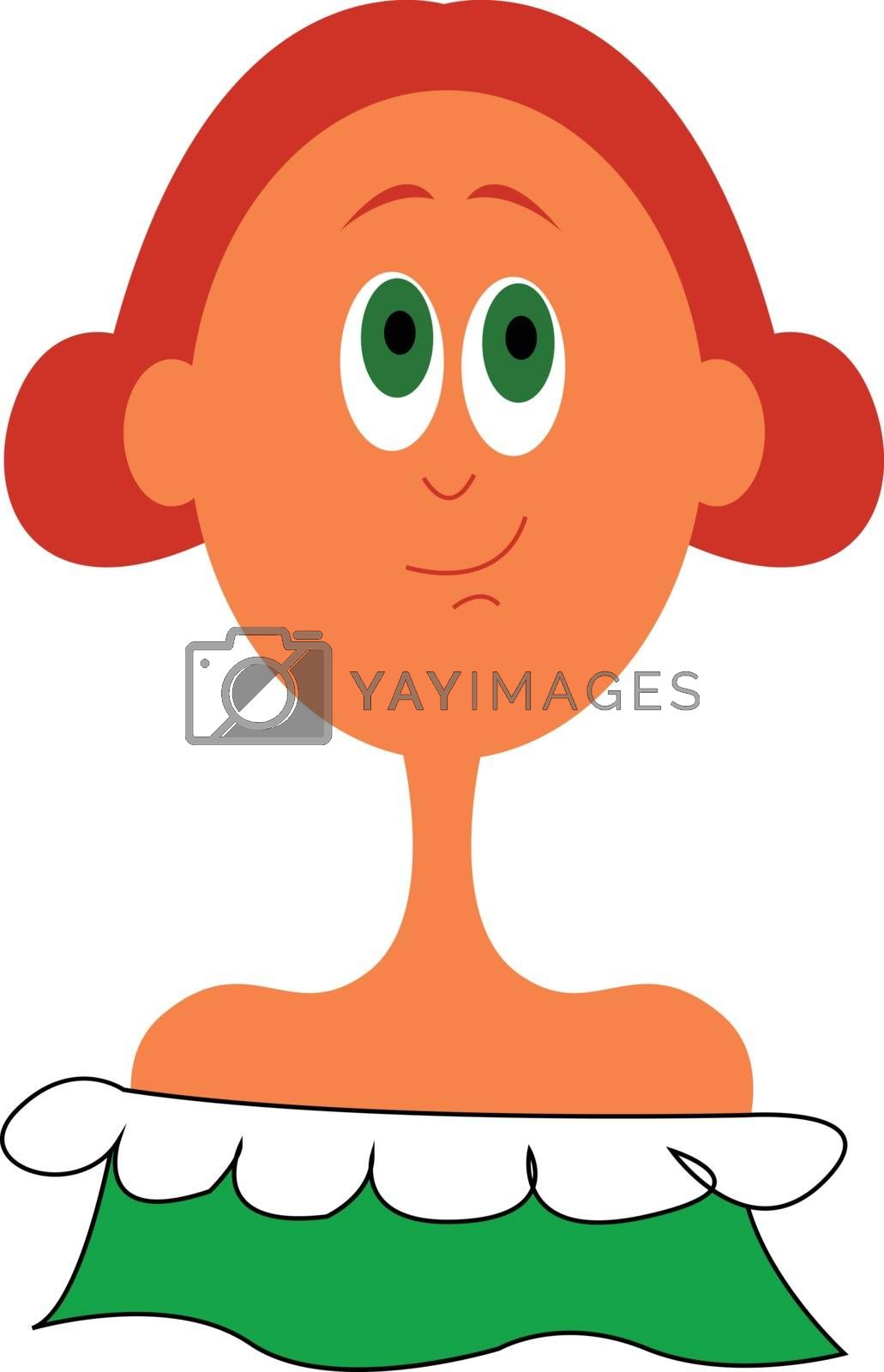 Royalty free image of Clipart of a beautiful girl in her green dress vector or color i by Morphart