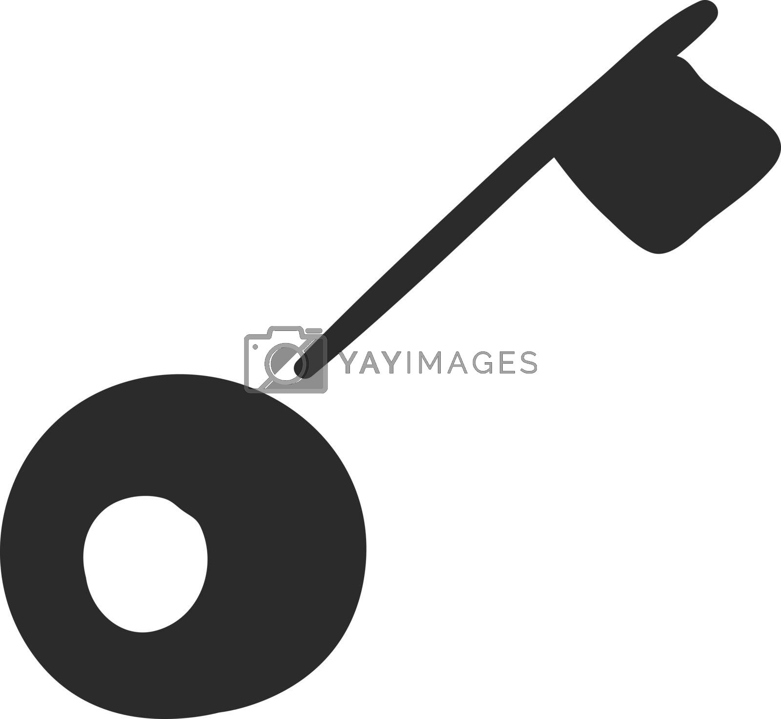Royalty free image of Key icon/Black key vector or color illustration by Morphart