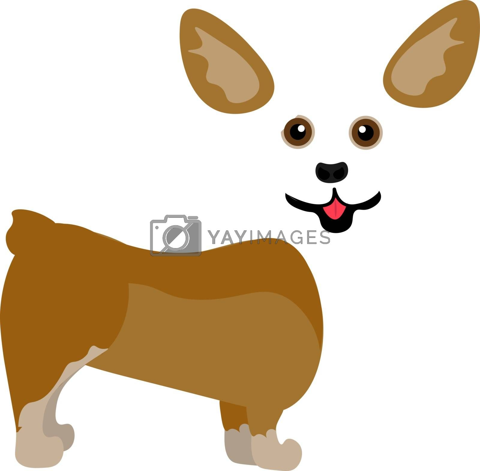 Royalty free image of Painting of a cute little corgi puppy vector or color illustrati by Morphart