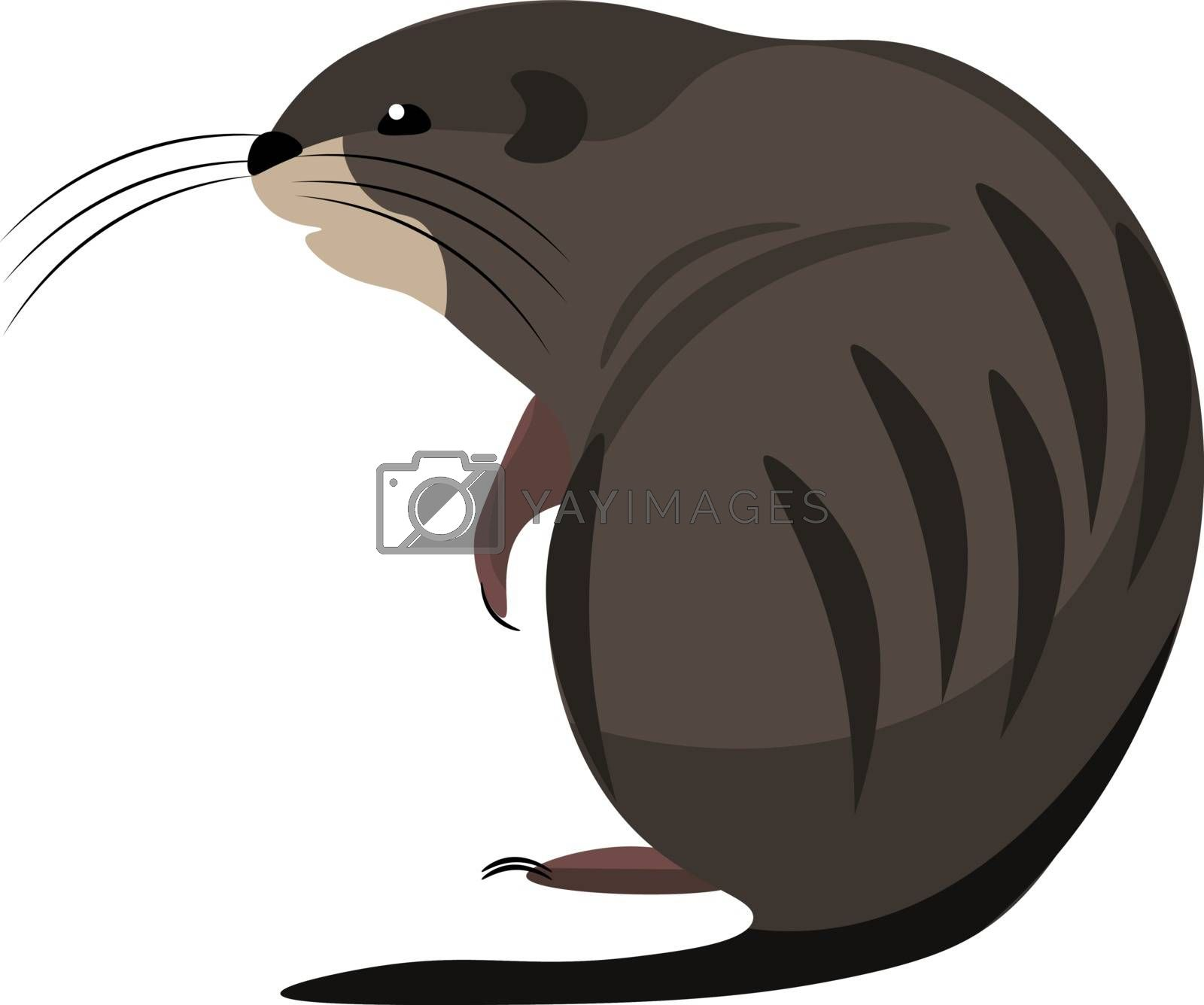 Royalty free image of Cartoon muskrat set on isolated white background viewed from beh by Morphart