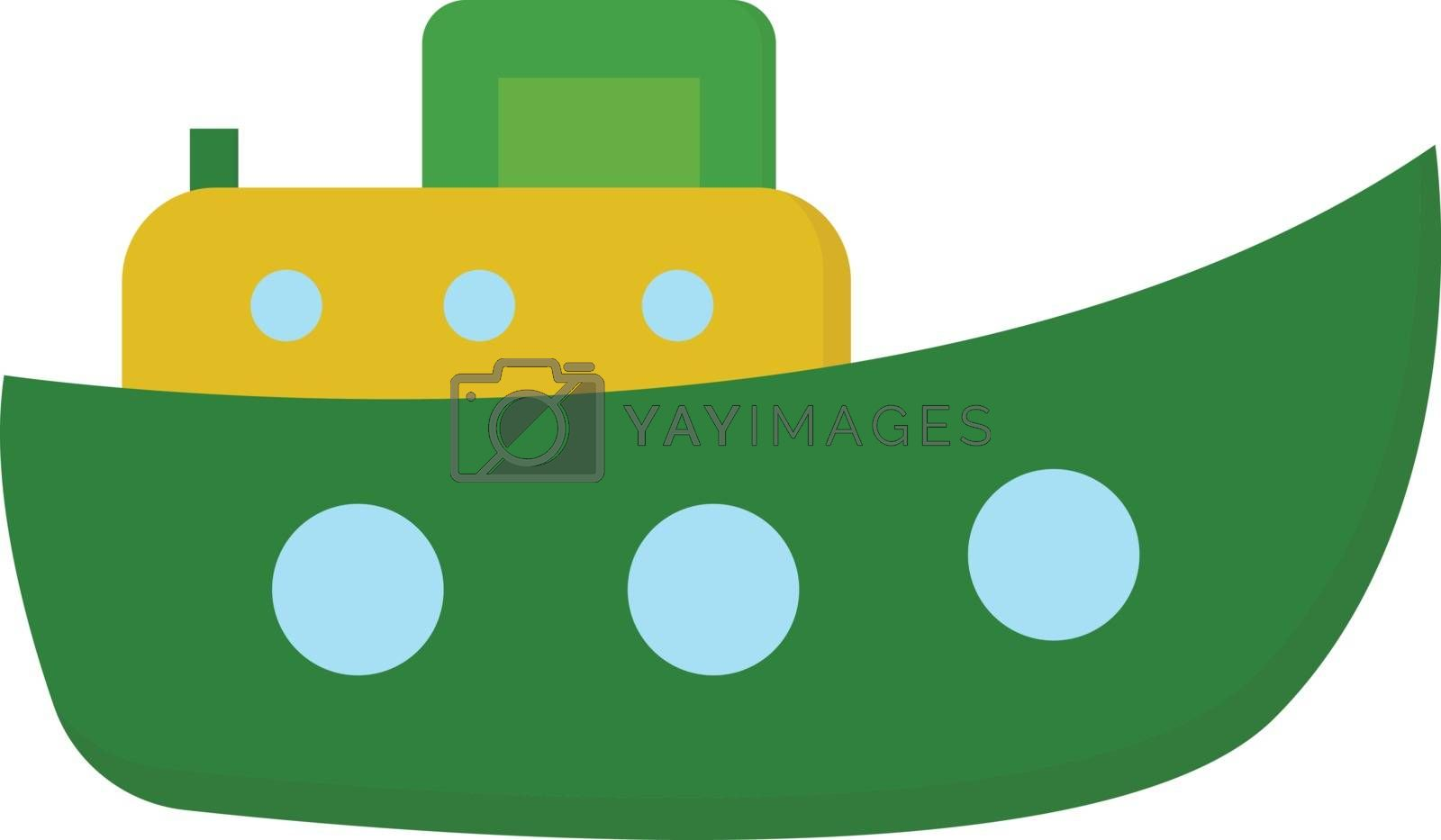 Royalty free image of Cute cartoon steamboat ship/Funnel (ship) vector or color illust by Morphart