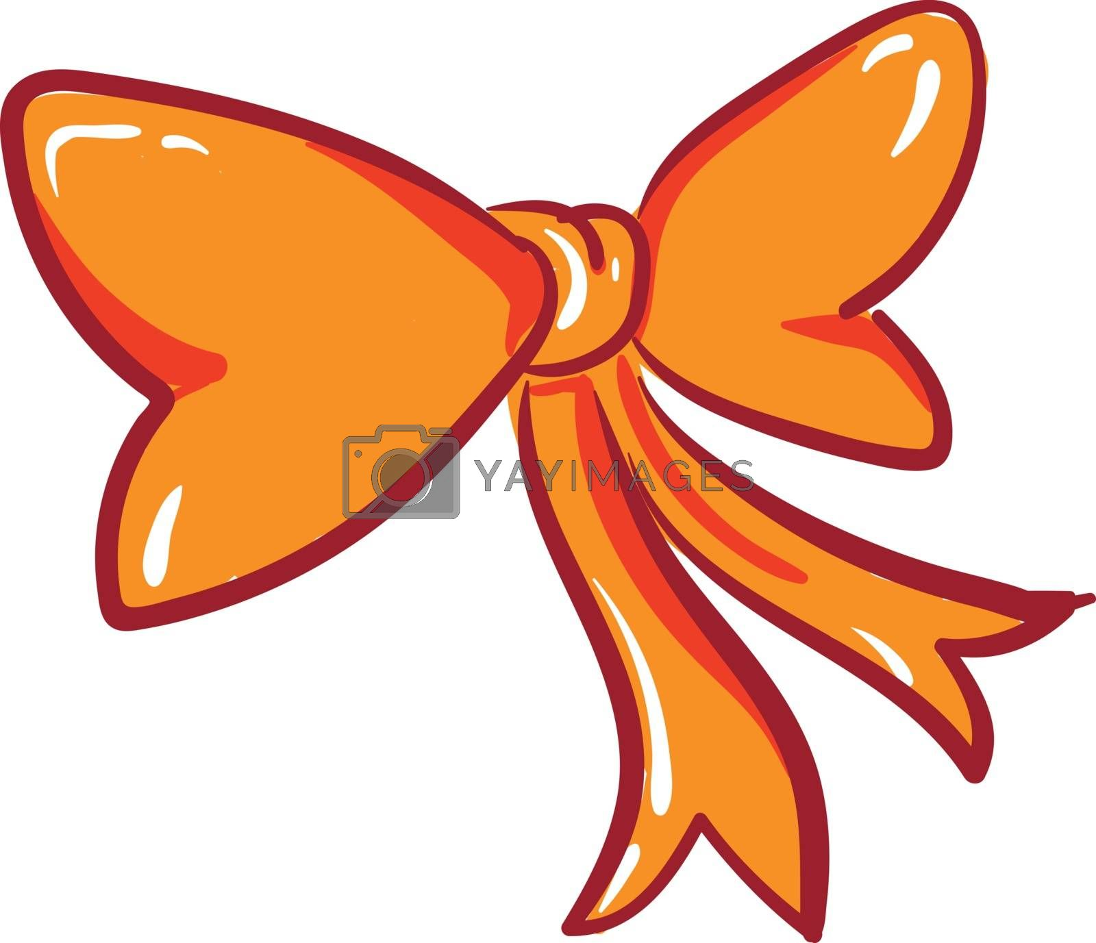 Royalty free image of Clipart of an orange bow vector or color illustration by Morphart