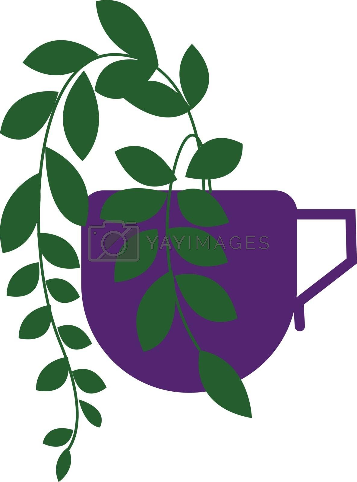 Royalty free image of Clipart of a creepy little plant grown on a coffee cup vector or by Morphart