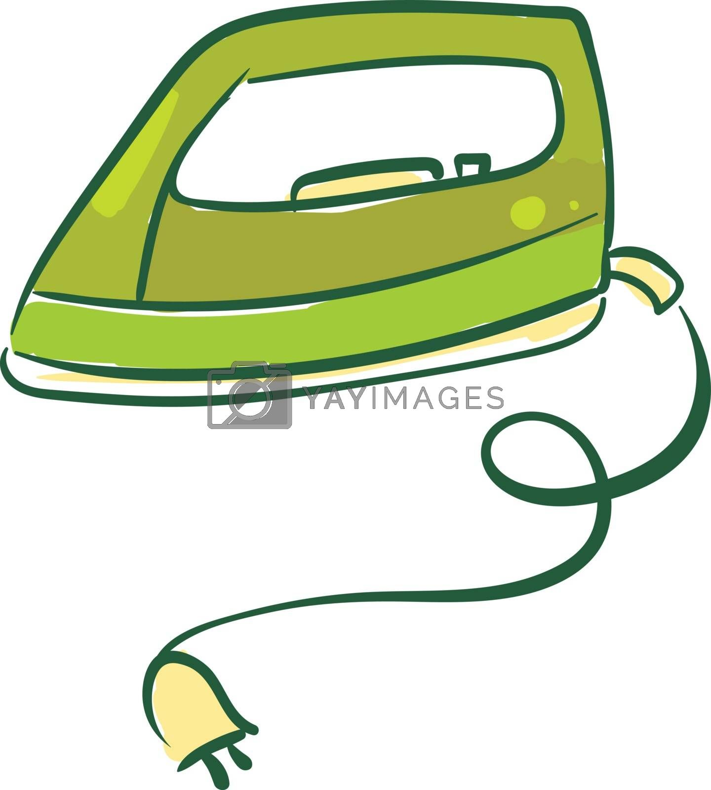 Royalty free image of Painting of a green-colored iron box equipped with an electric p by Morphart