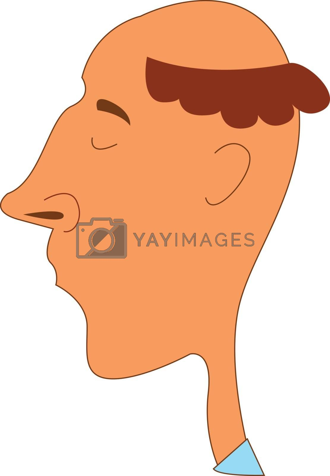 Royalty free image of Portrait of a funny-looking man viewed from the side and set on  by Morphart