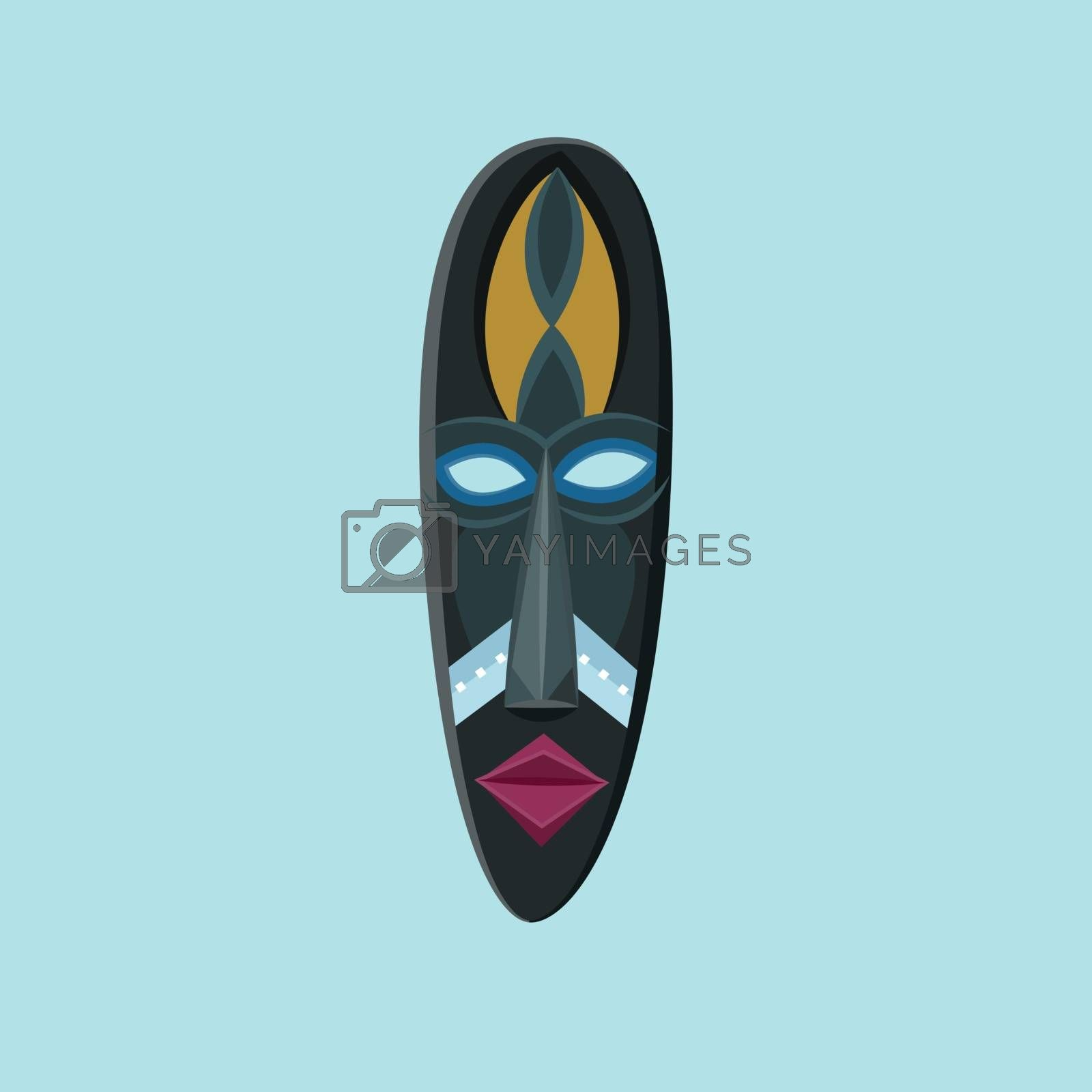 Royalty free image of Blue masquerade carnival party face mask vector or color illustr by Morphart