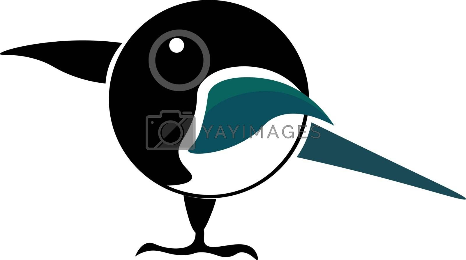 Royalty free image of Cartoon picture of a magpie bird vector or color illustration by Morphart