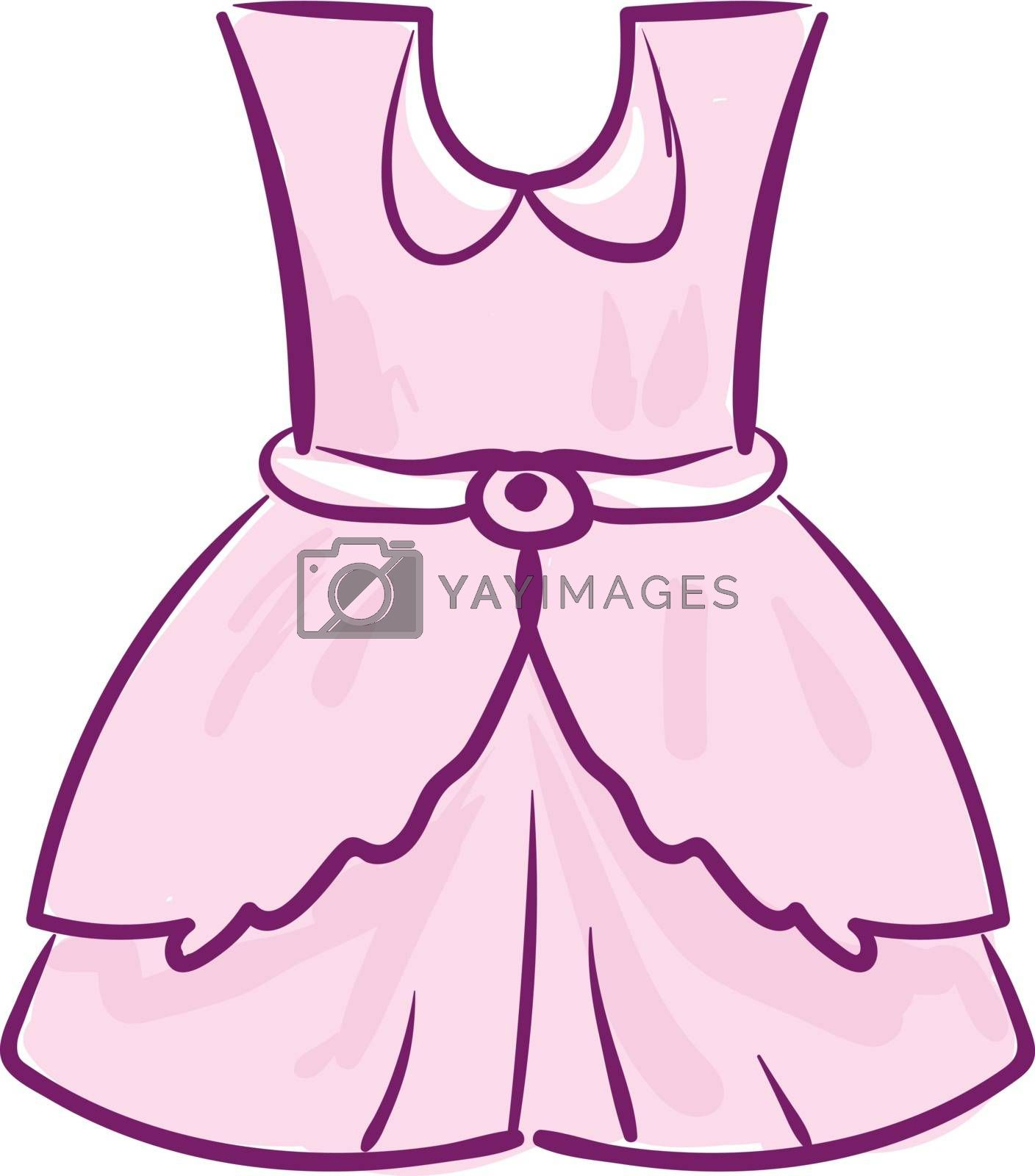 Royalty free image of A showcase pink-colored frock for girl children vector or color  by Morphart