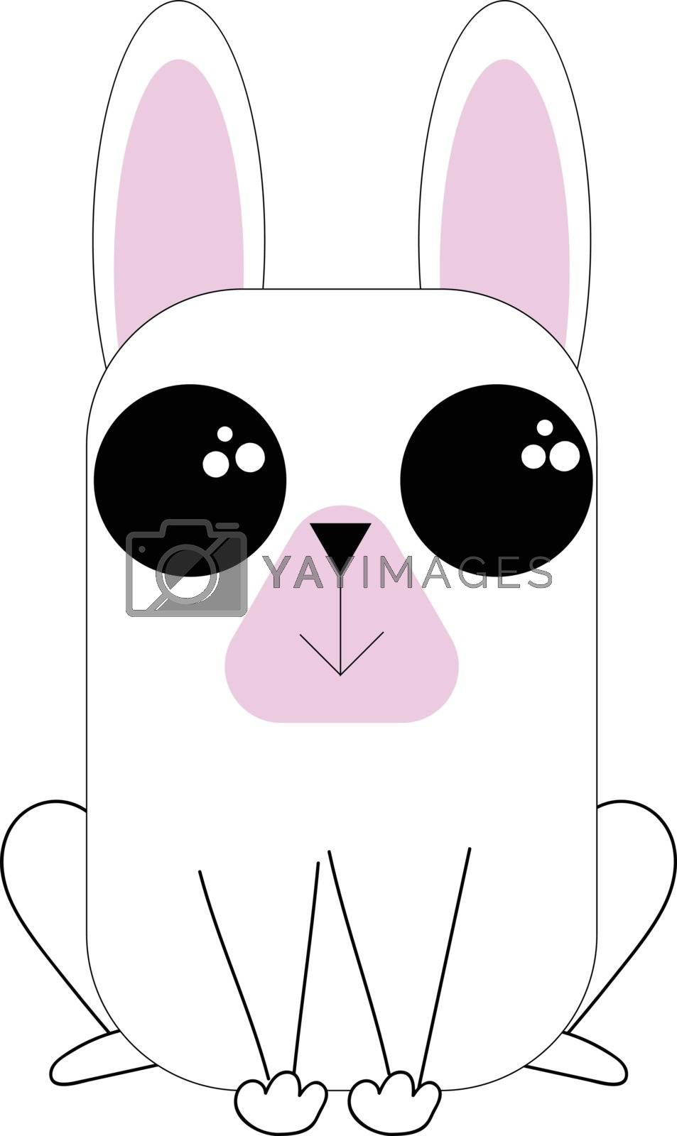 Royalty free image of Line art of a cute little dog vector or color illustration by Morphart