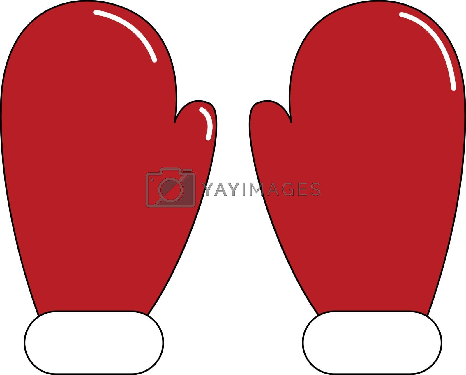 Royalty free image of Pair of red mittens/Pair of red gloves vector or color illustrat by Morphart