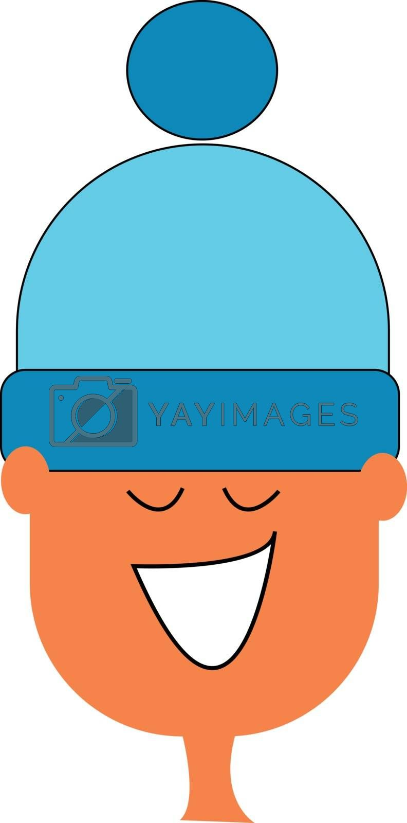 Royalty free image of Cartoon boy in a blue woollen hat vector or color illustration by Morphart