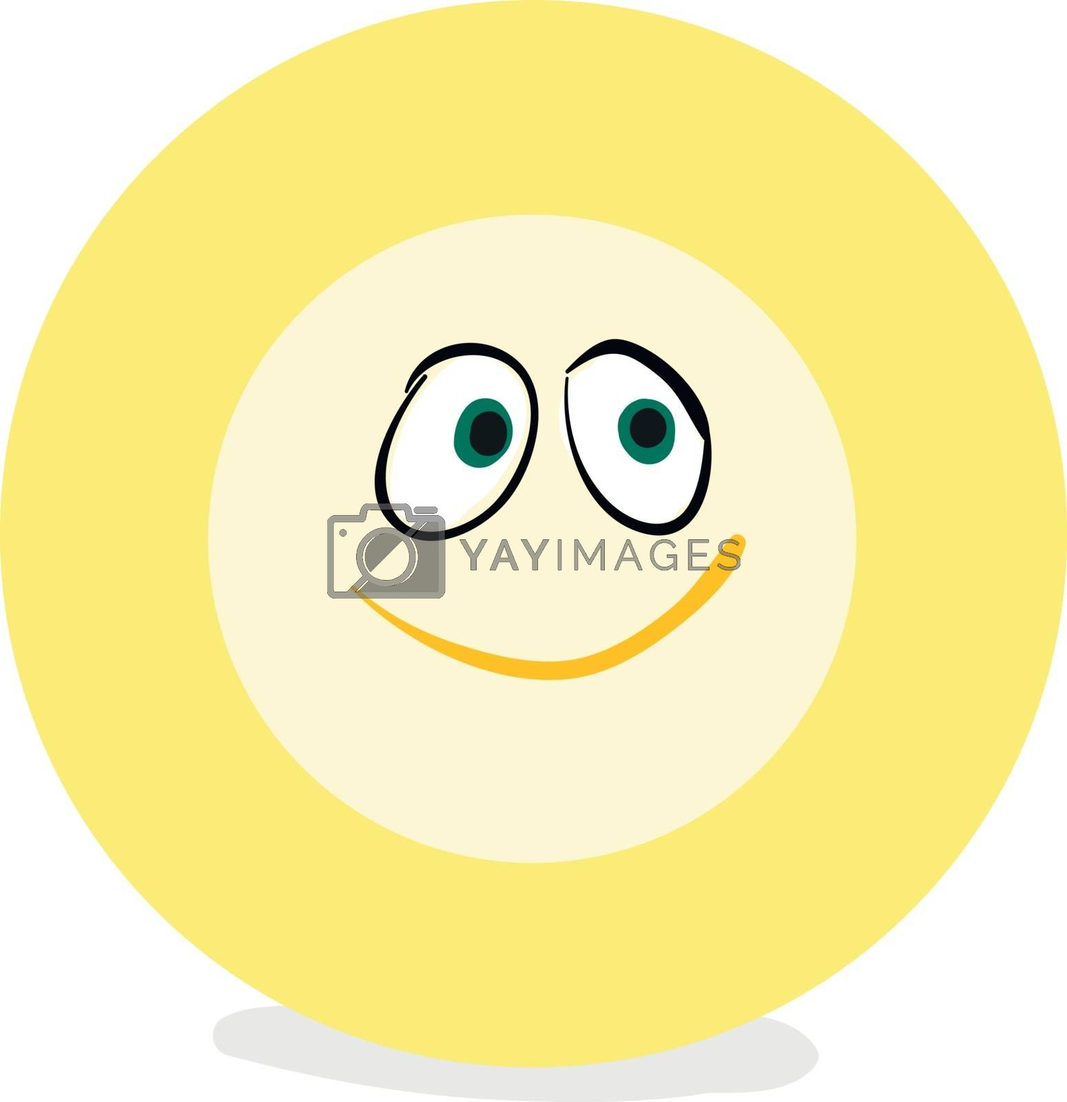 Royalty free image of Emoji funny happy yellow-colored plate vector or color illustrat by Morphart