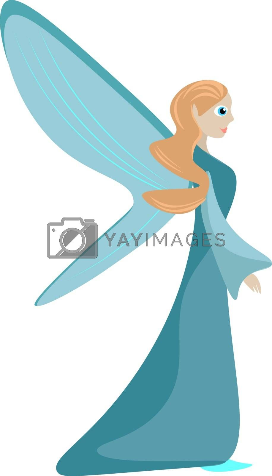 Royalty free image of Painting of a fairy set isolated white background viewed from th by Morphart