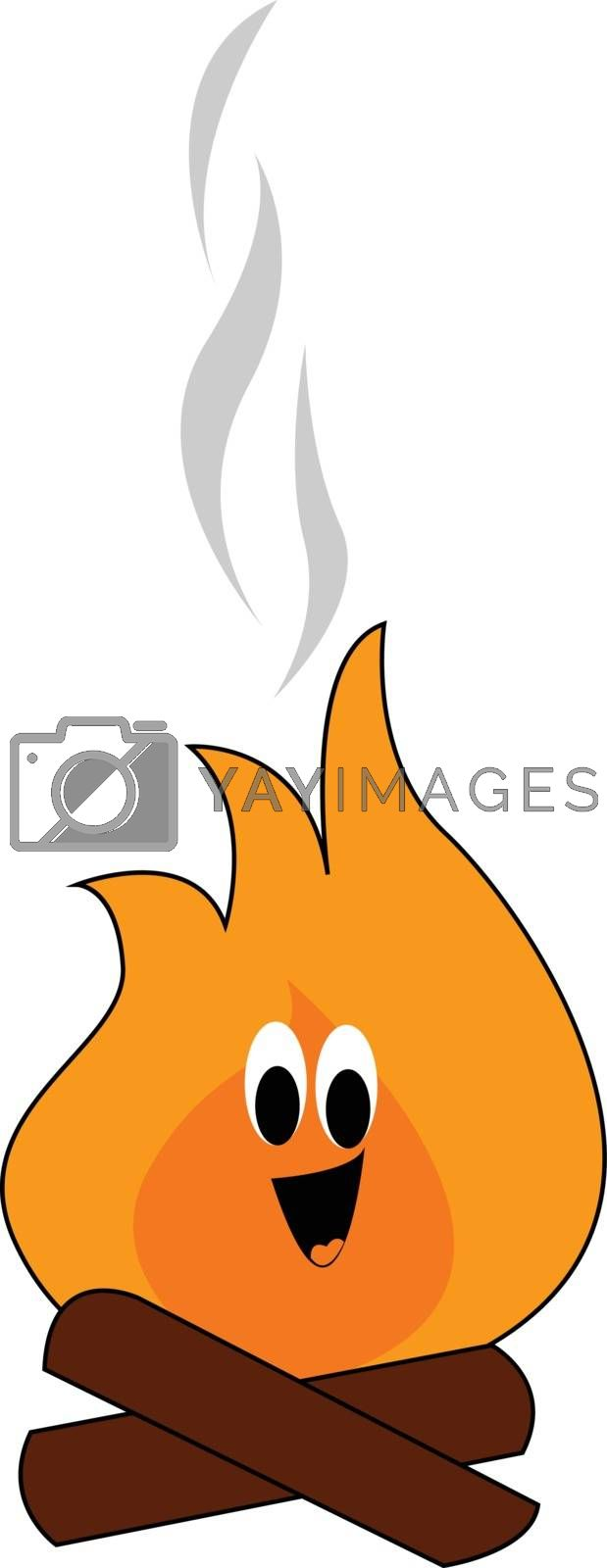 Royalty free image of Emoji of a smiling campfire vector or color illustration by Morphart