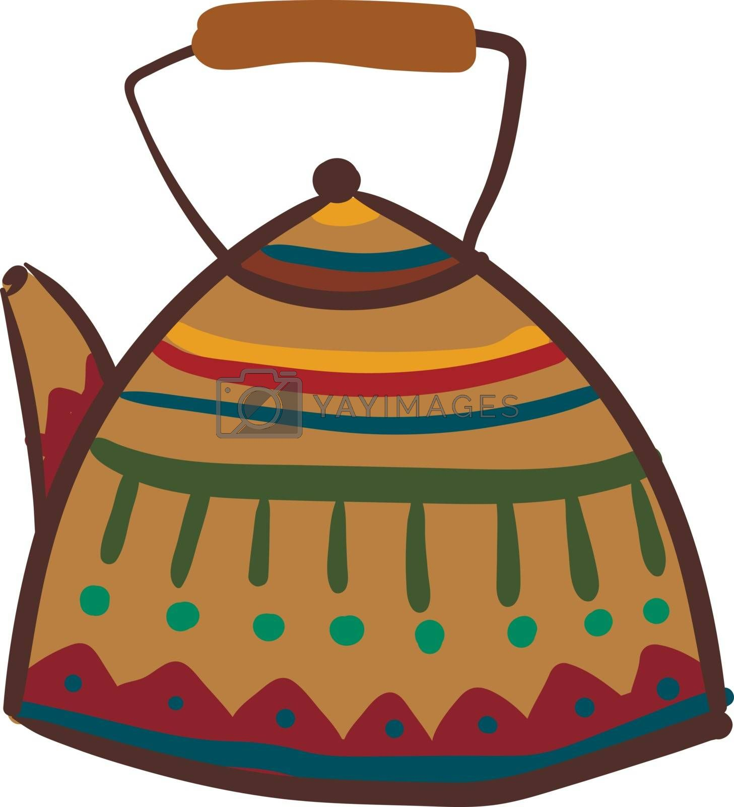 Royalty free image of Clipart of multi-colored teapot vector or color illustration by Morphart
