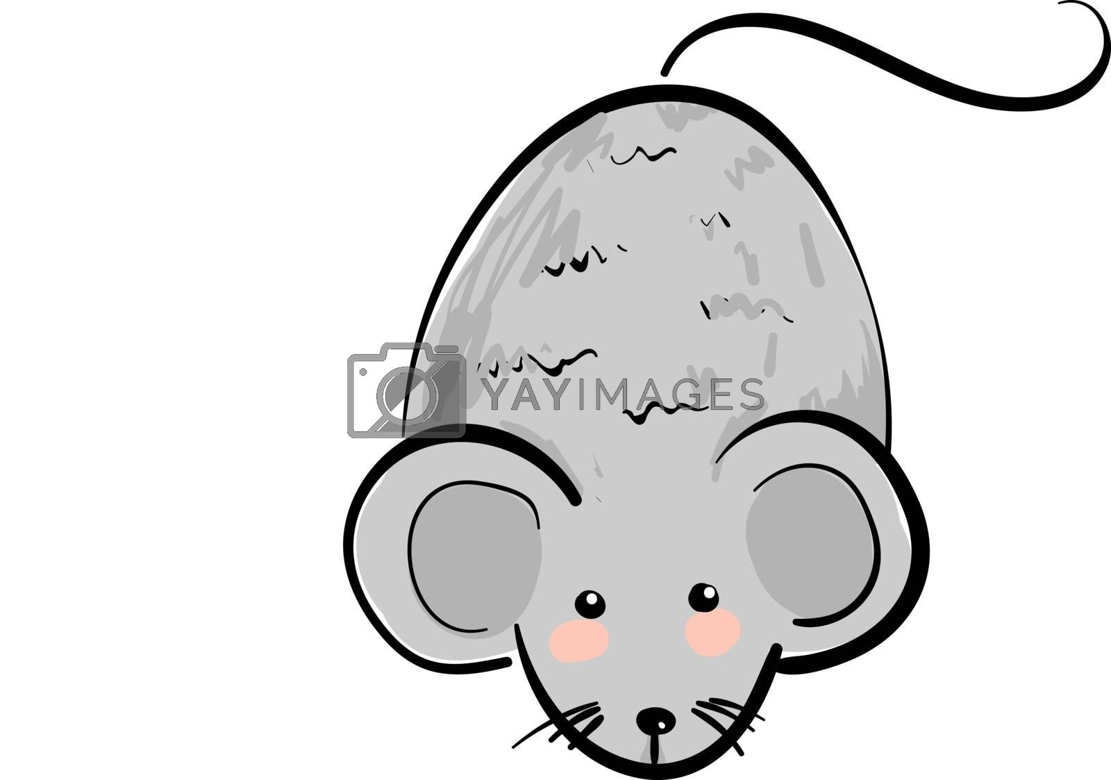 Royalty free image of Cartoon cute little mouse set on isolated white background viewe by Morphart