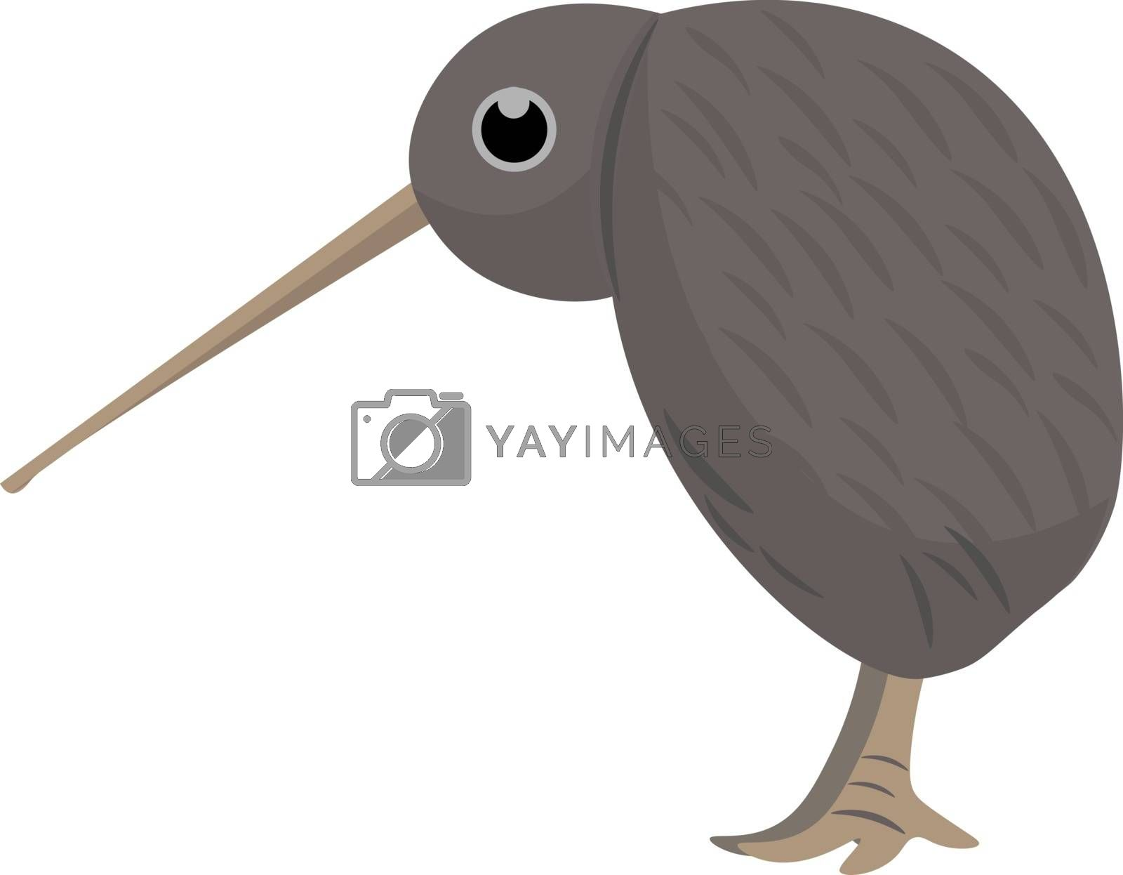 Royalty free image of Clipart of the Kiwi brown bird set on isolated white background  by Morphart