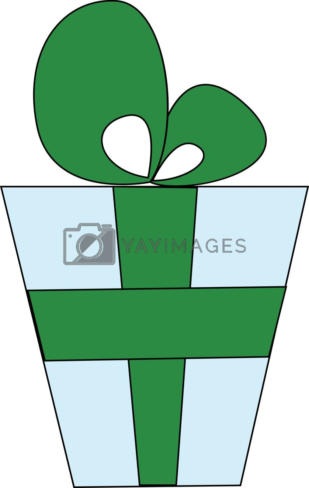 Royalty free image of Drawing of an blue gift box vector or color illustration by Morphart