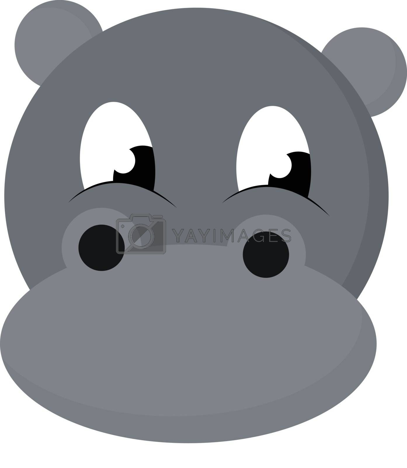 Royalty free image of Cartoon face of the baby hippopotamus vector or color illustrati by Morphart