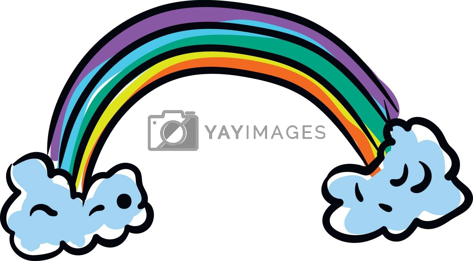 Royalty free image of Clipart of a colorful rainbow vector or color illustration by Morphart
