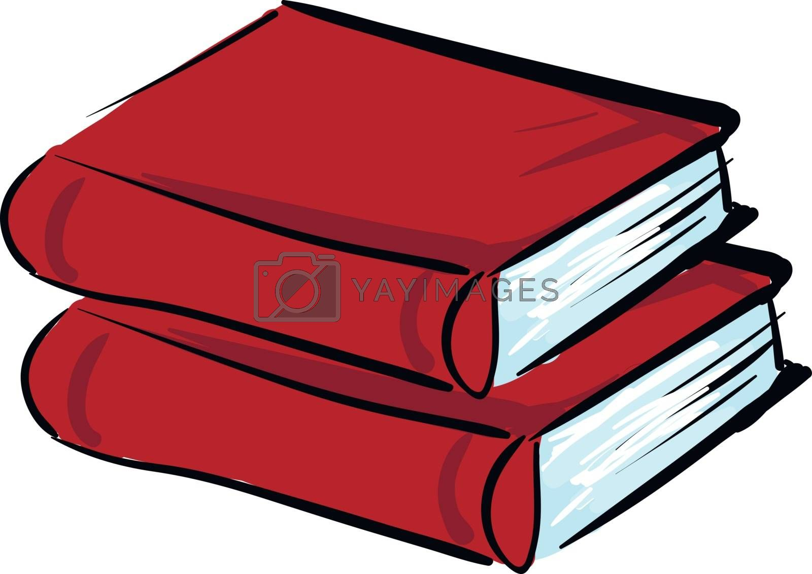 Royalty free image of Clipart of two red books vector or color illustration by Morphart