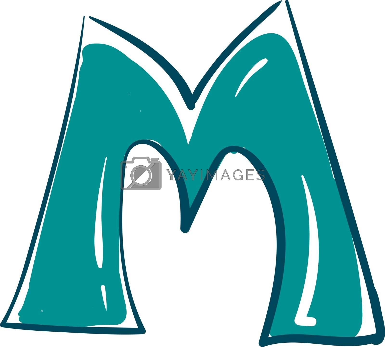 Royalty free image of Letter M alphabet vector or color illustration by Morphart