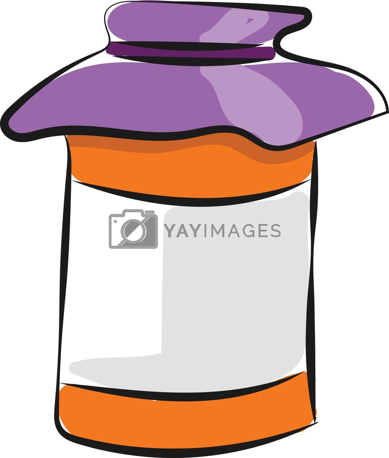 Royalty free image of Drawing of a jam bottle vector or color illustration by Morphart