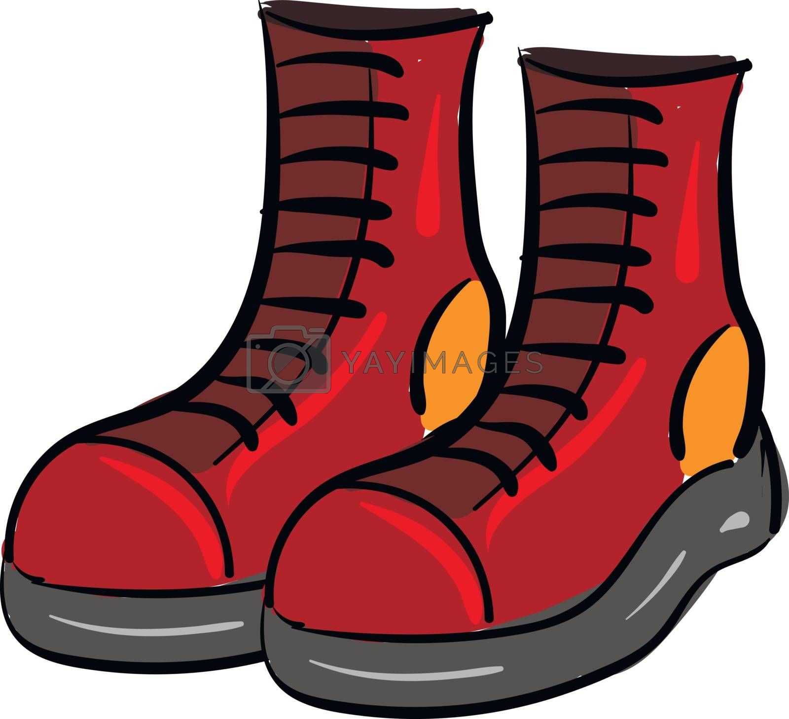 Royalty free image of Clipart of a pair of red boots vector or color illustration by Morphart