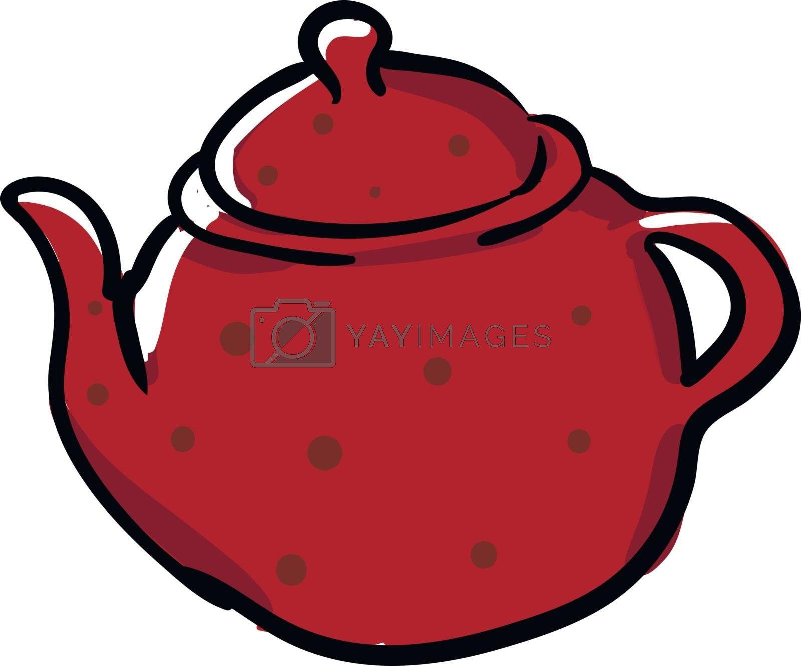 Royalty free image of Clipart of a red-colored teapot/Evening snacks time vector or co by Morphart