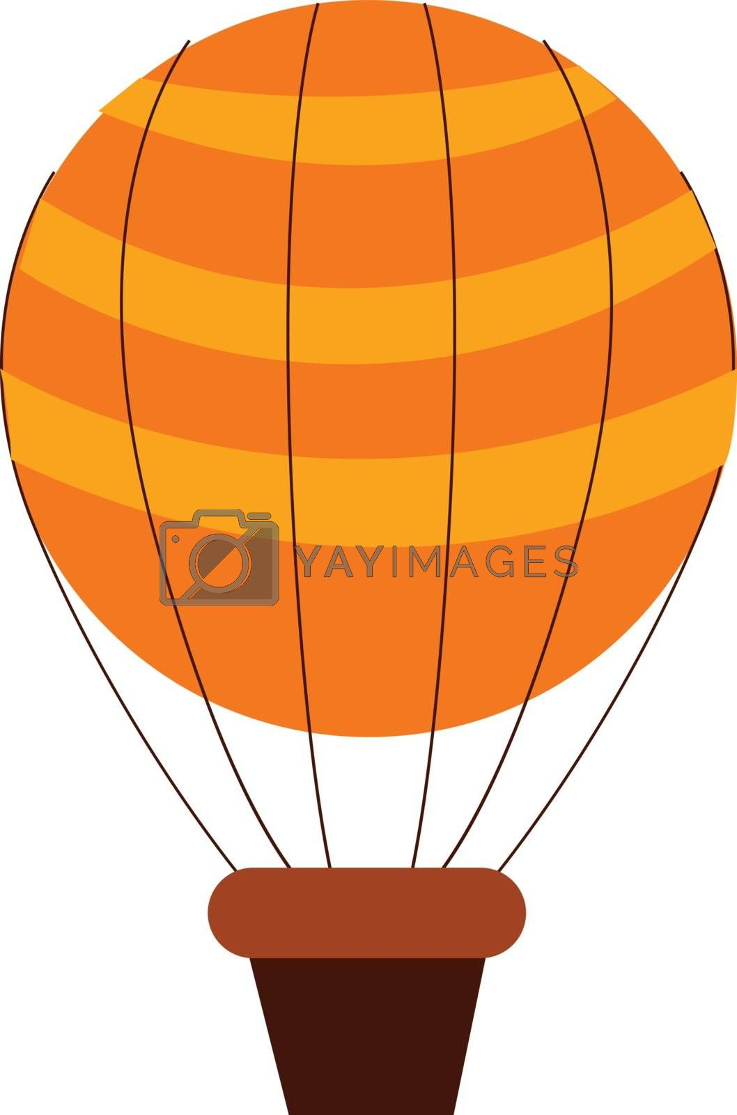 Royalty free image of Cartoon parachute with box vector or color illustration by Morphart