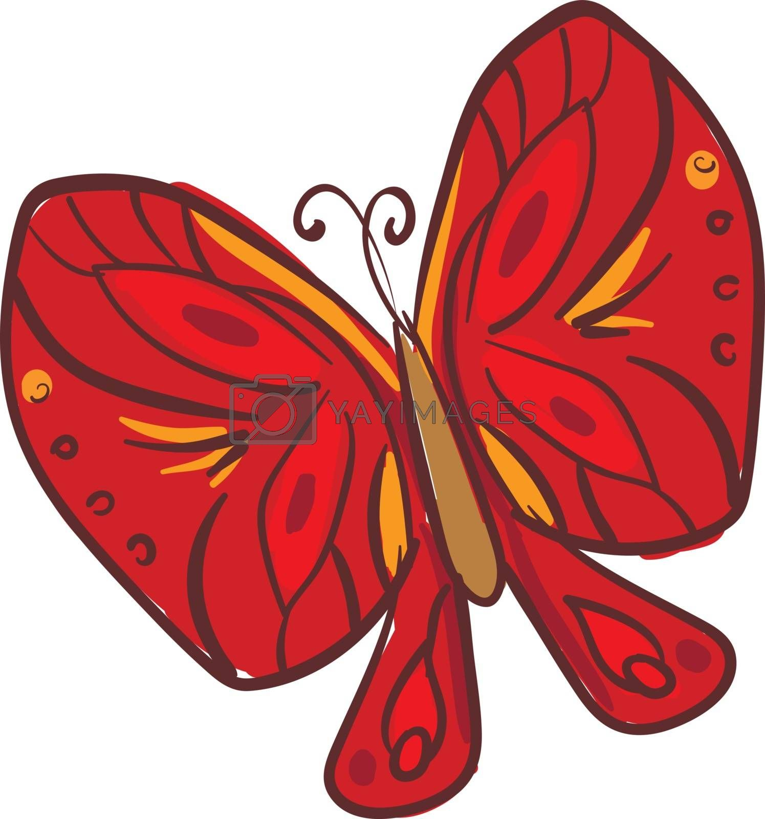 Royalty free image of Clipart of a red-colored butterfly vector or color illustration by Morphart
