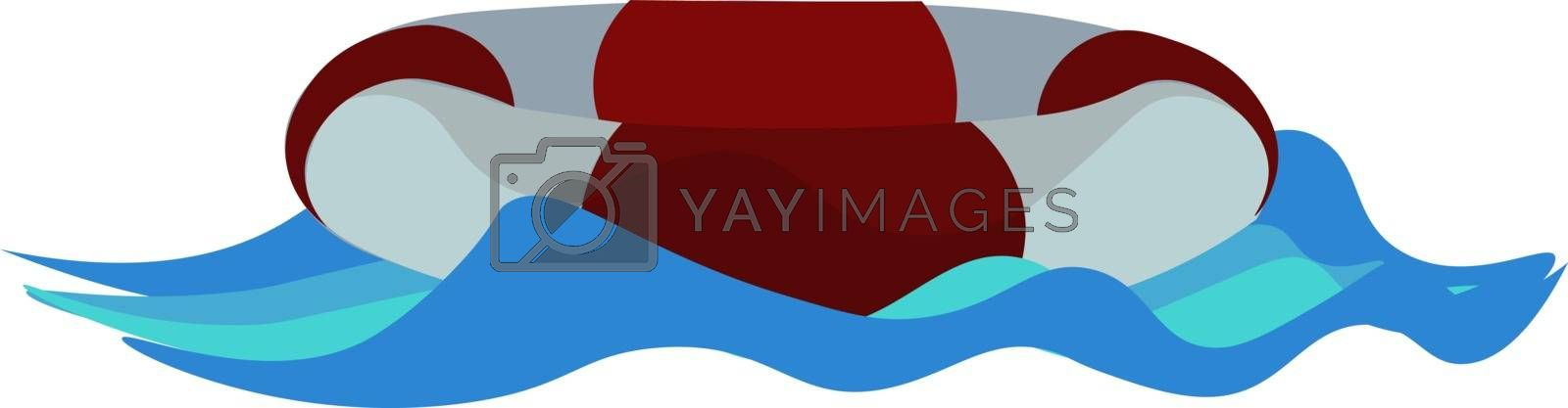 Royalty free image of Painting of a lifebelt that stays afloat in the sea vector or co by Morphart
