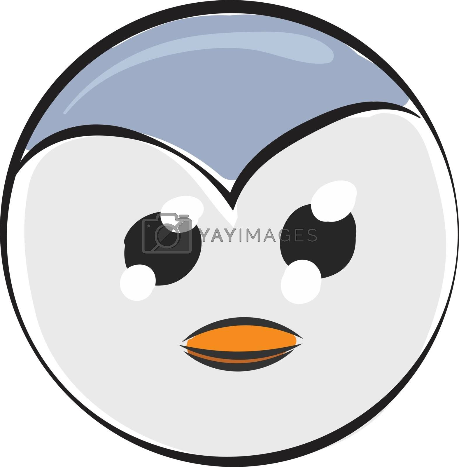 Royalty free image of Cartoon picture of the face of a cute penguin isolated on the wh by Morphart