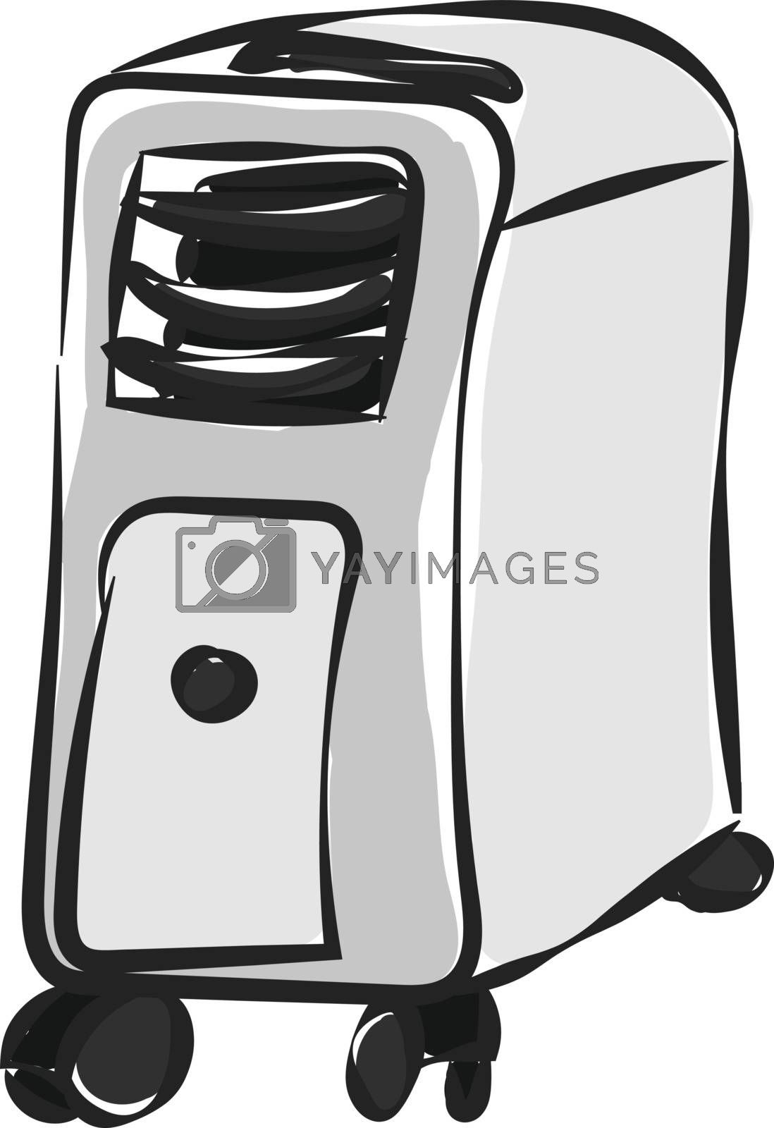 Royalty free image of Cartoon air conditioner/Air cooler (White and grey)  vector or c by Morphart
