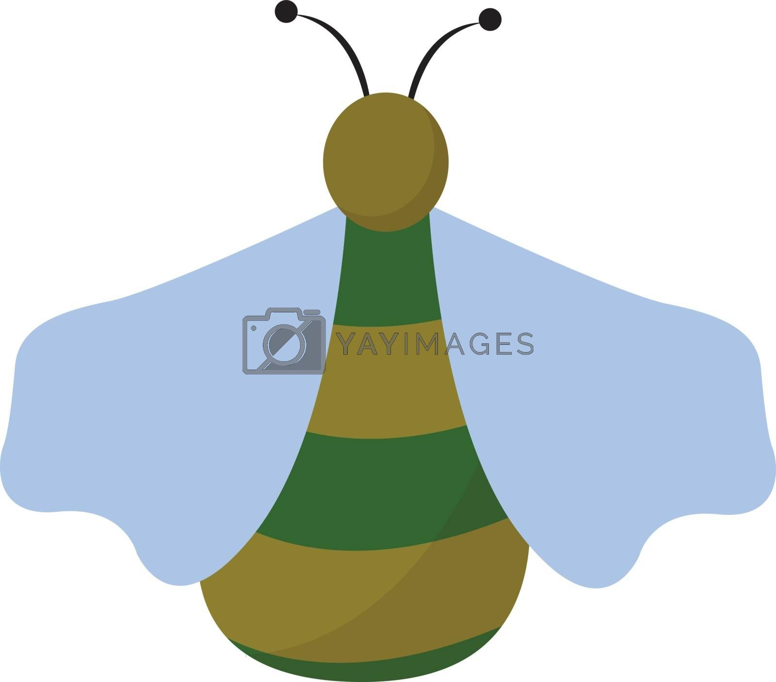 Royalty free image of Clipart of a green bug set on isolated white background viewed f by Morphart