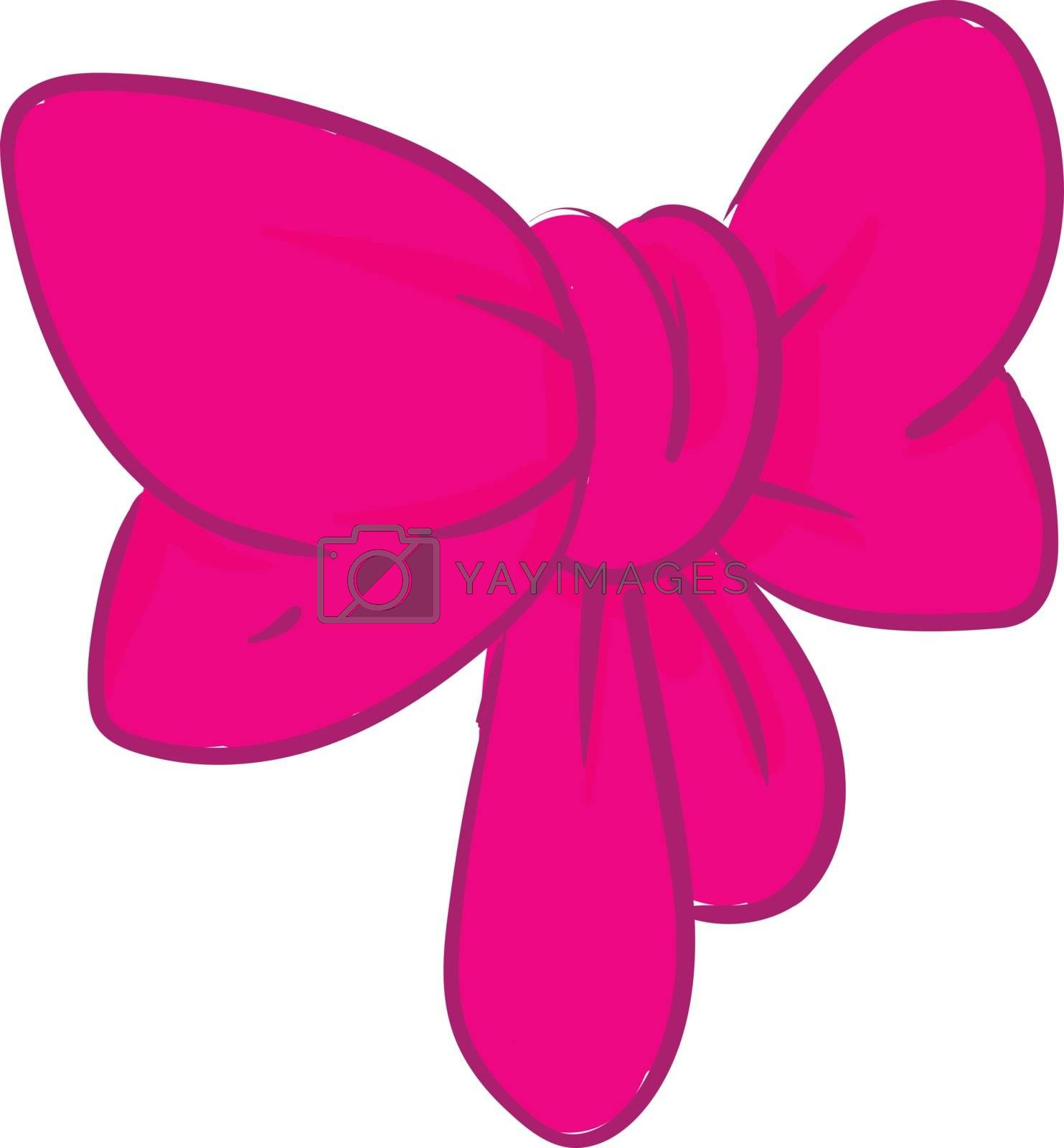 Royalty free image of Clipart of a pink bow vector or color illustration by Morphart