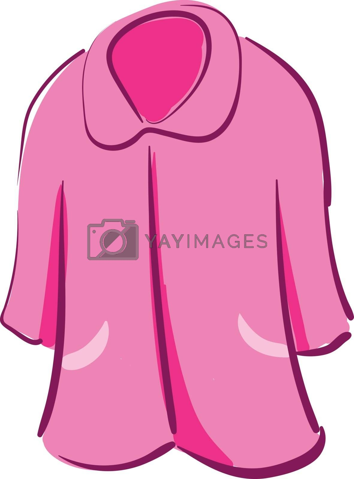 Royalty free image of Clipart of a showcase pink-colored nightie vector or color illus by Morphart