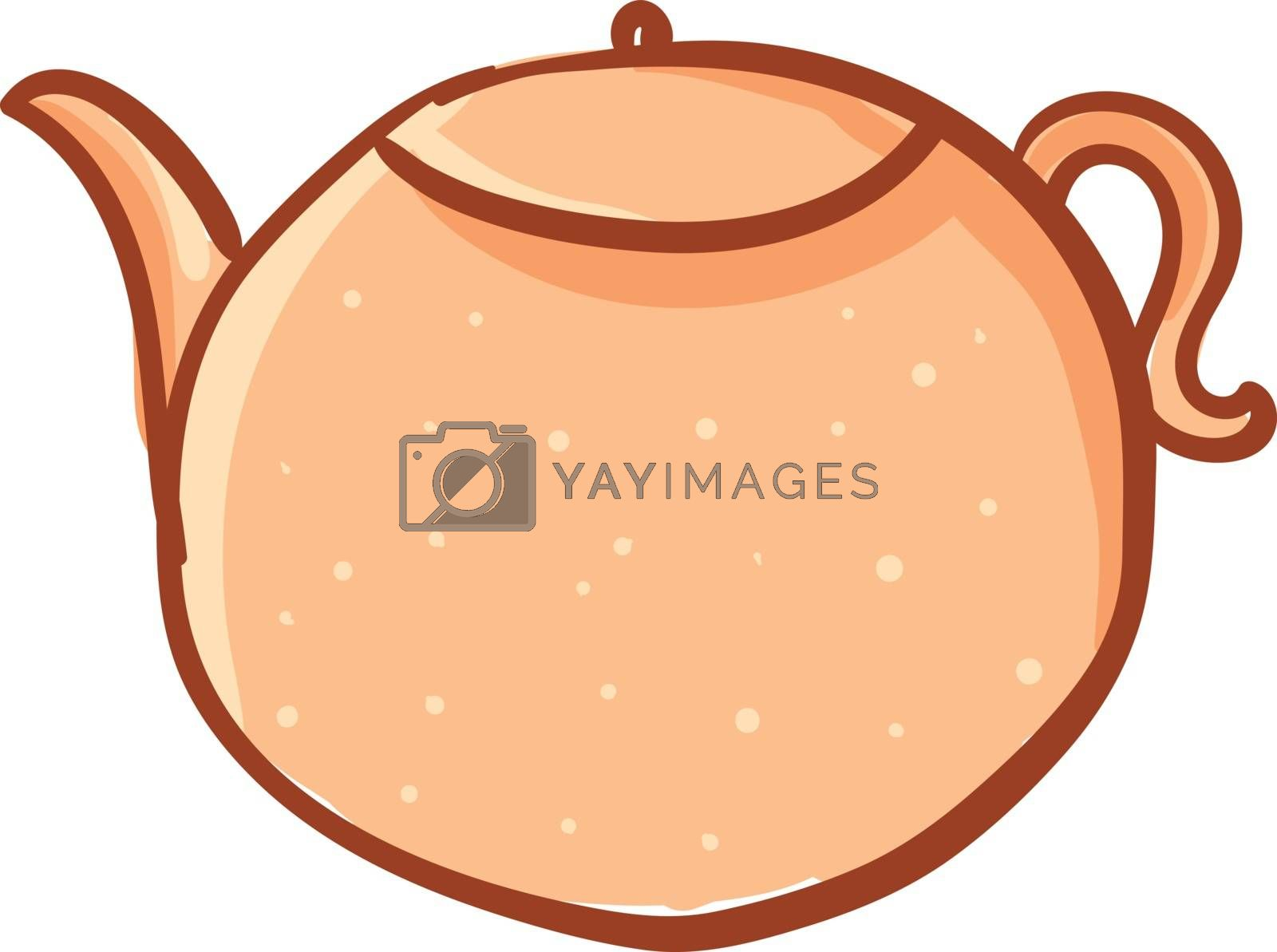 Royalty free image of Clipart of a round-shaped teapot/Kettle/Evening snacks time vect by Morphart