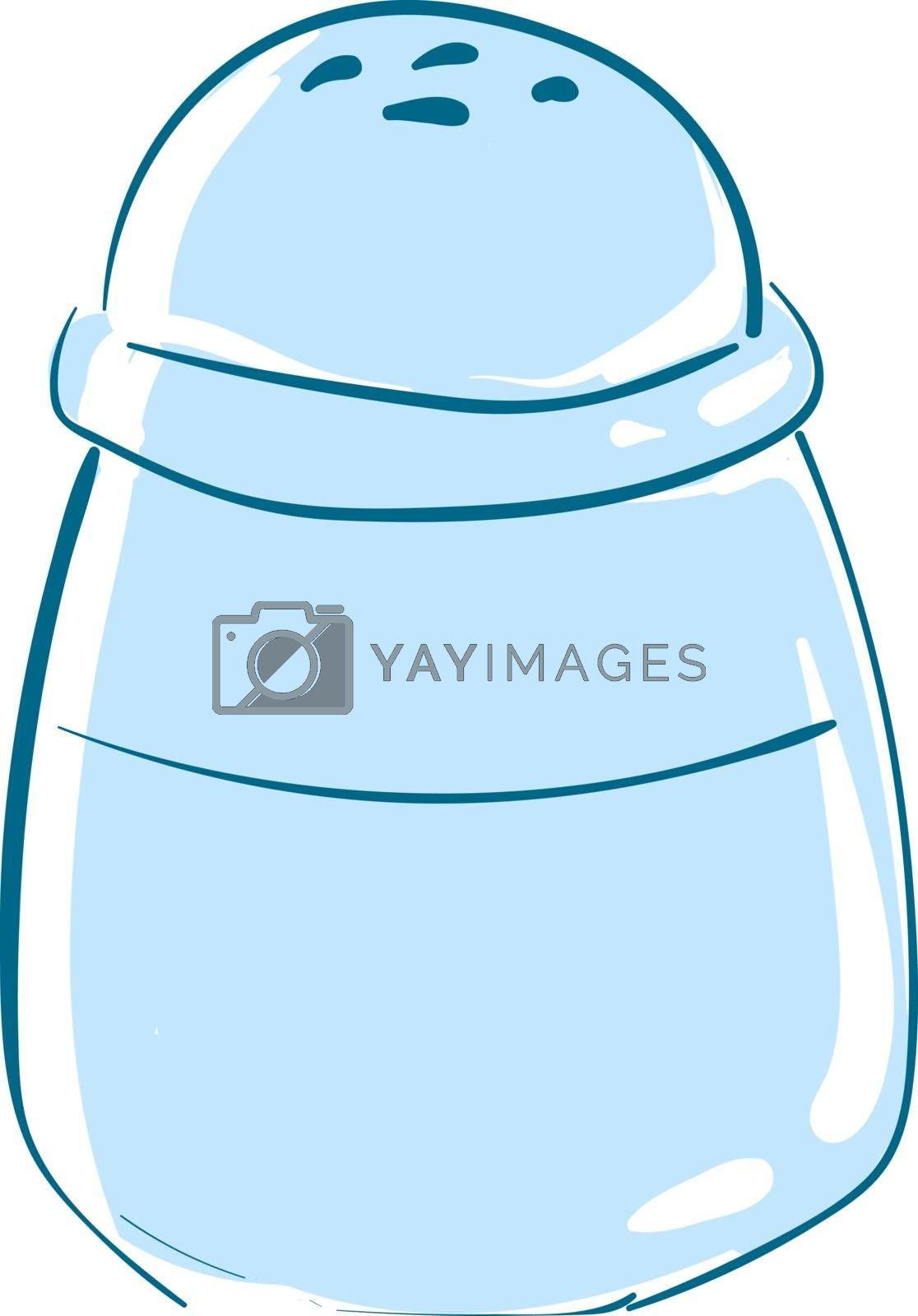 Royalty free image of Clipart of blue-colored salt shaker vector or color illustration by Morphart
