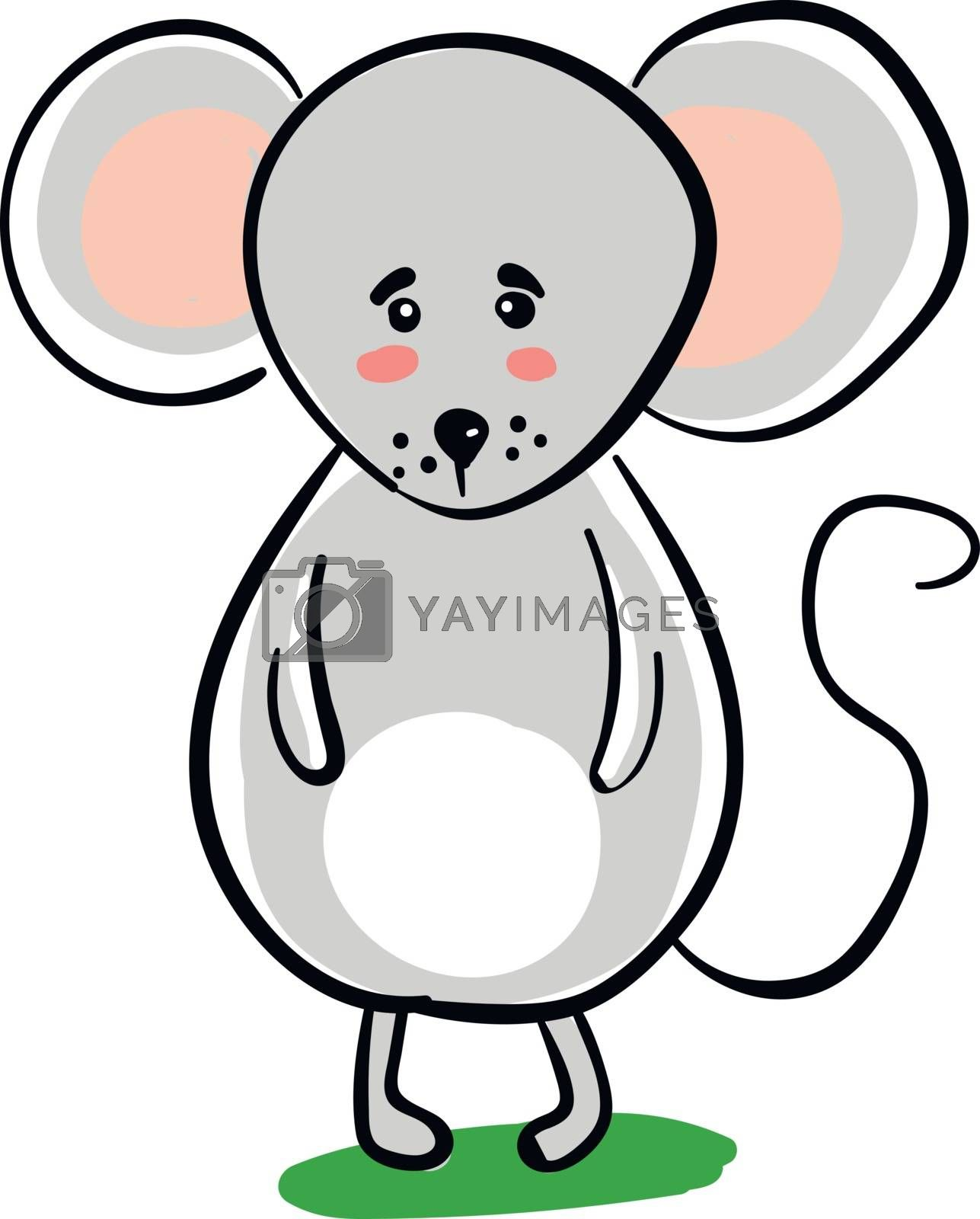 Royalty free image of Clipart of a sad mouse set on isolated white background vector o by Morphart