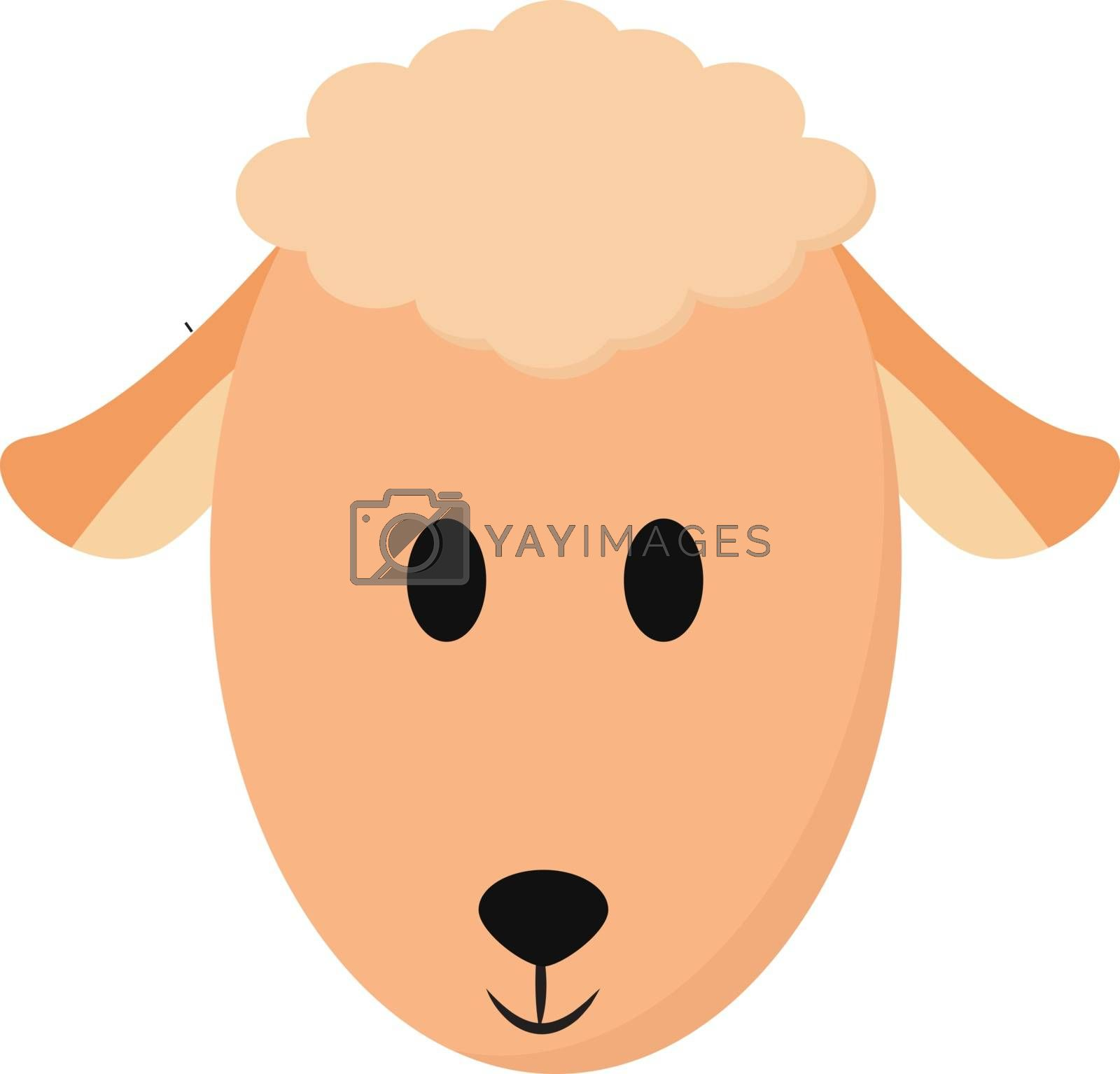 Royalty free image of Cartoon face of a peach-colored sheep vector or color illustrati by Morphart