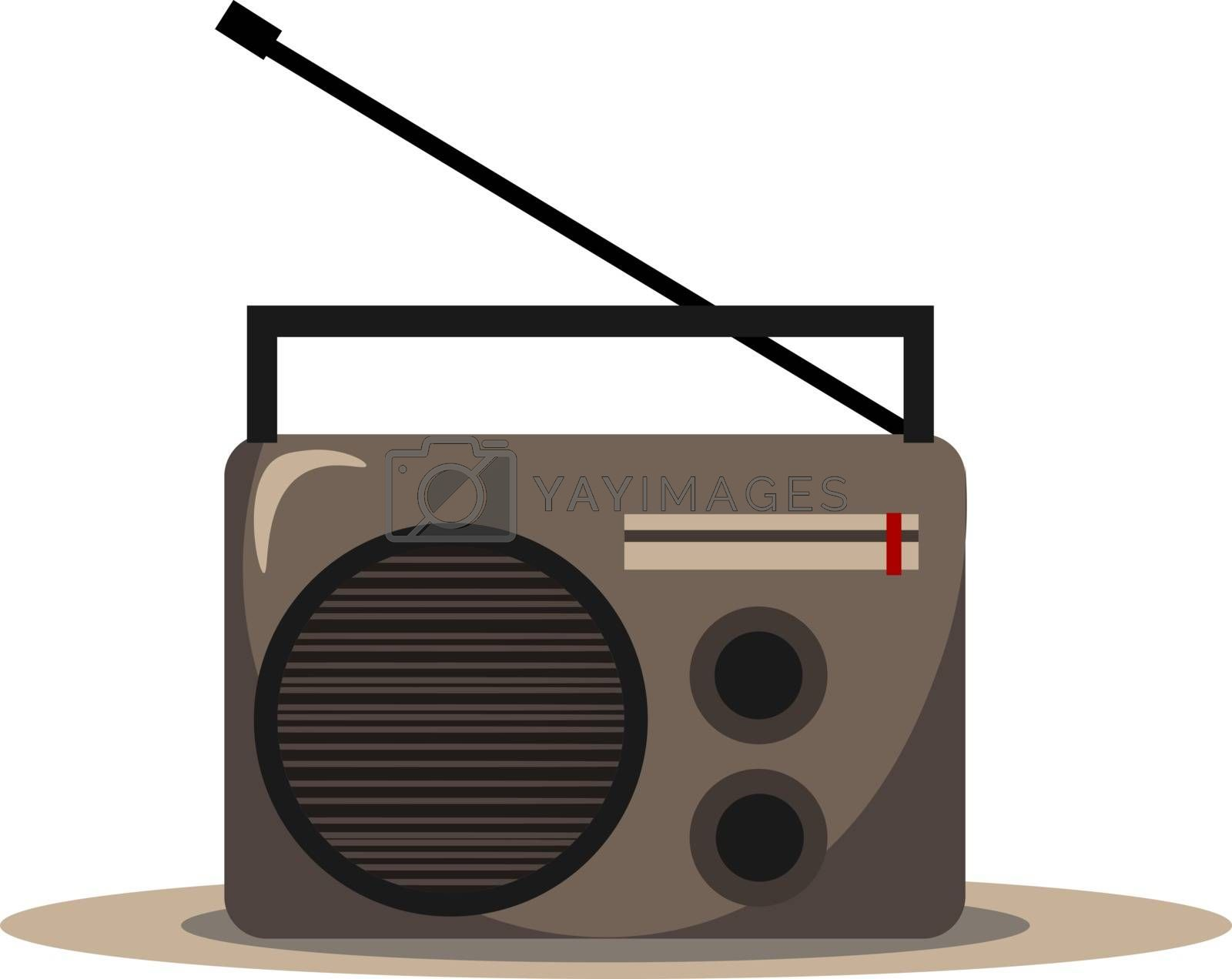Royalty free image of Clipart of FM radio audio player vector or color illustration by Morphart