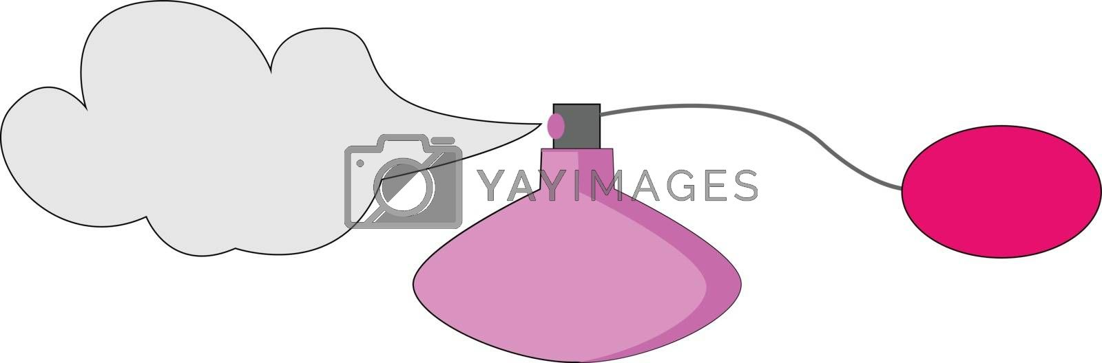 Royalty free image of Classic perfume bottle with spray atomizer/Glass perfume bottle  by Morphart