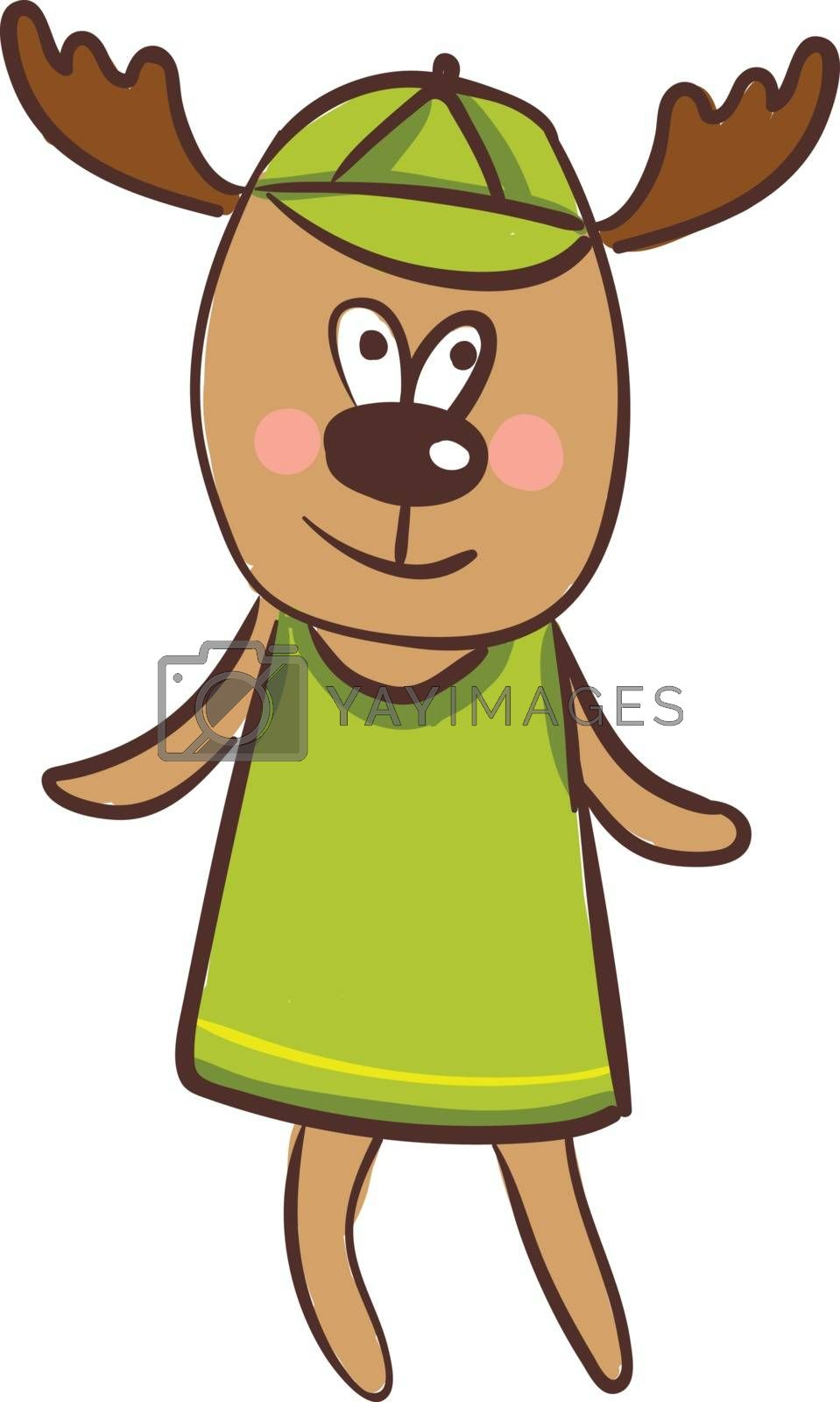 Royalty free image of Cartoon funny happy deer vector or color illustration by Morphart