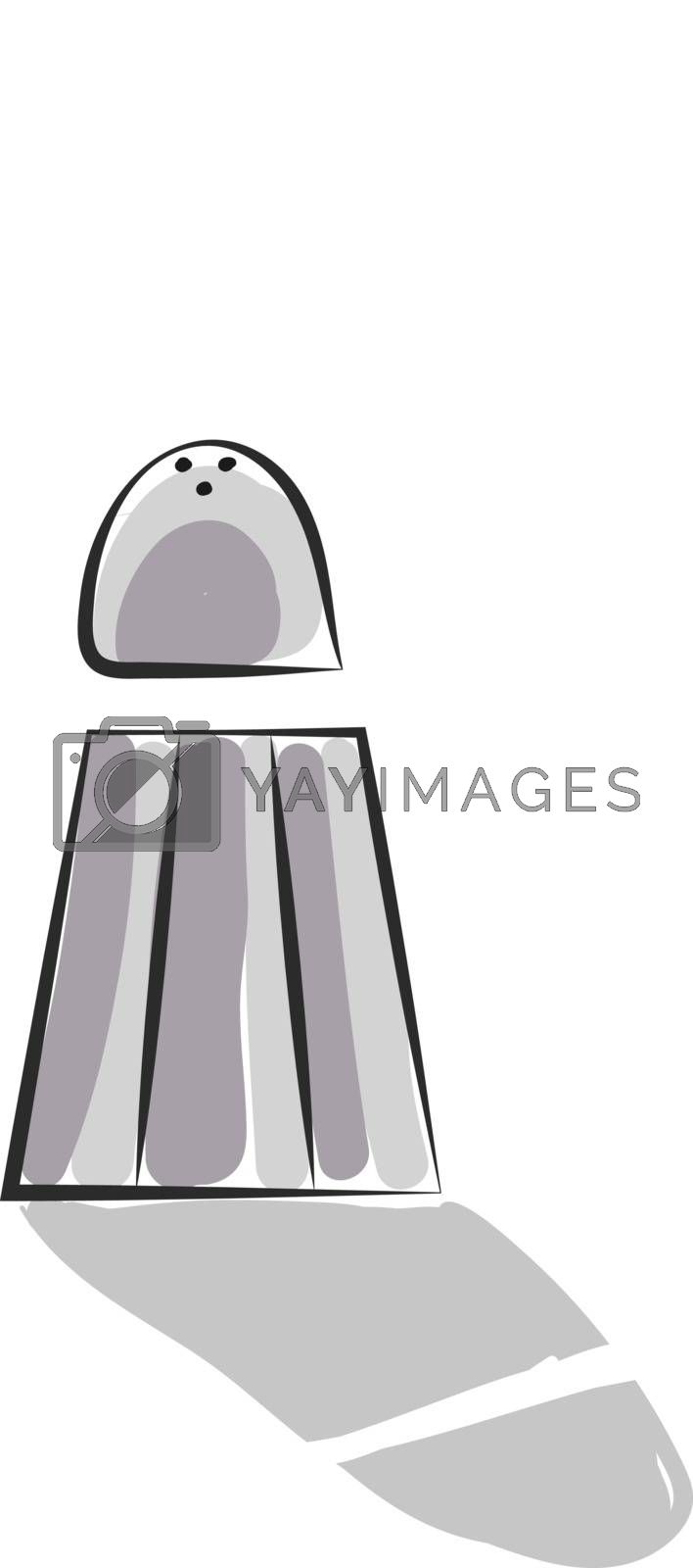 Royalty free image of Clipart of grey-colored salt shaker vector or color illustration by Morphart