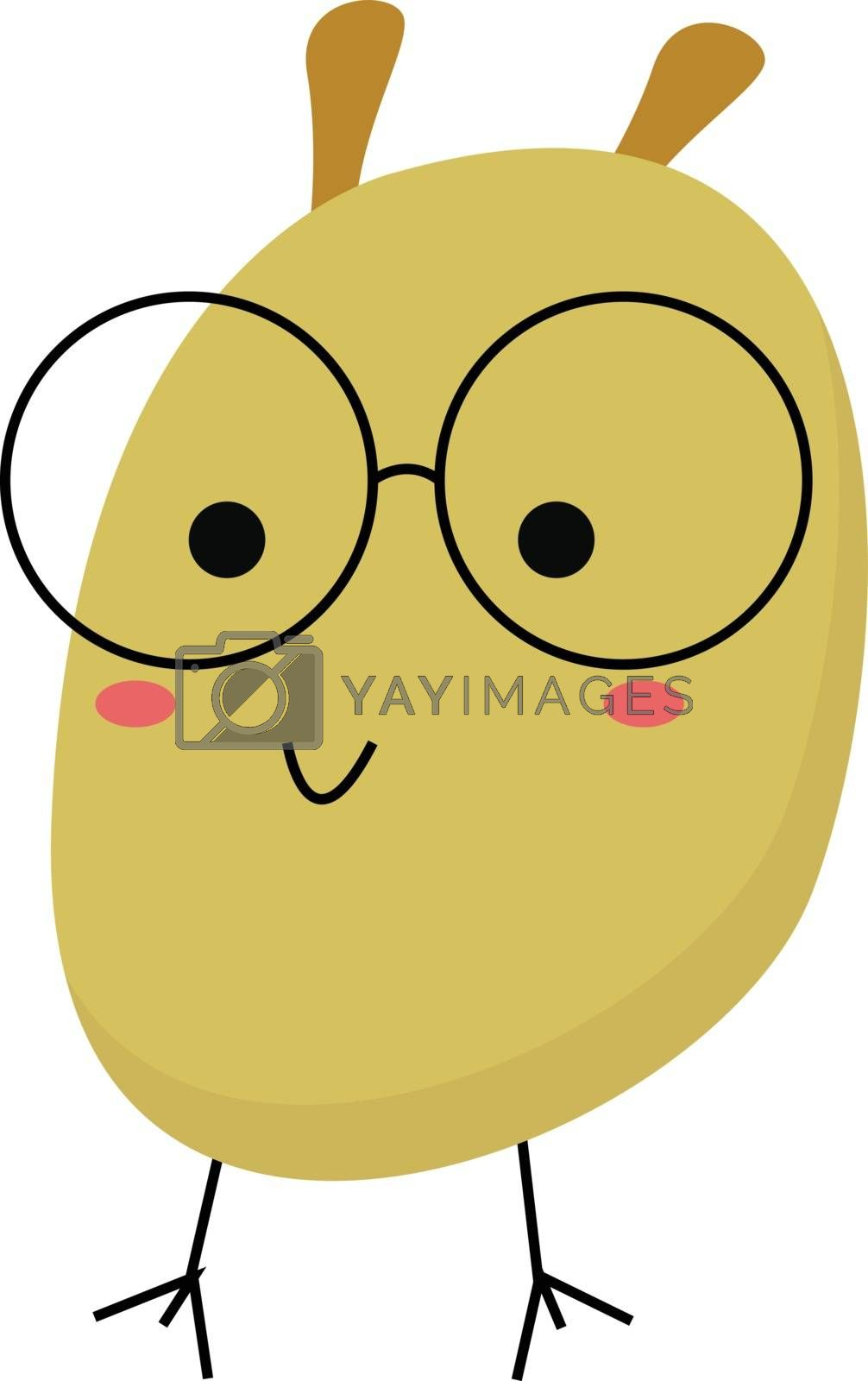 Royalty free image of Cartoon funny monster with glasses vector or color illustration by Morphart