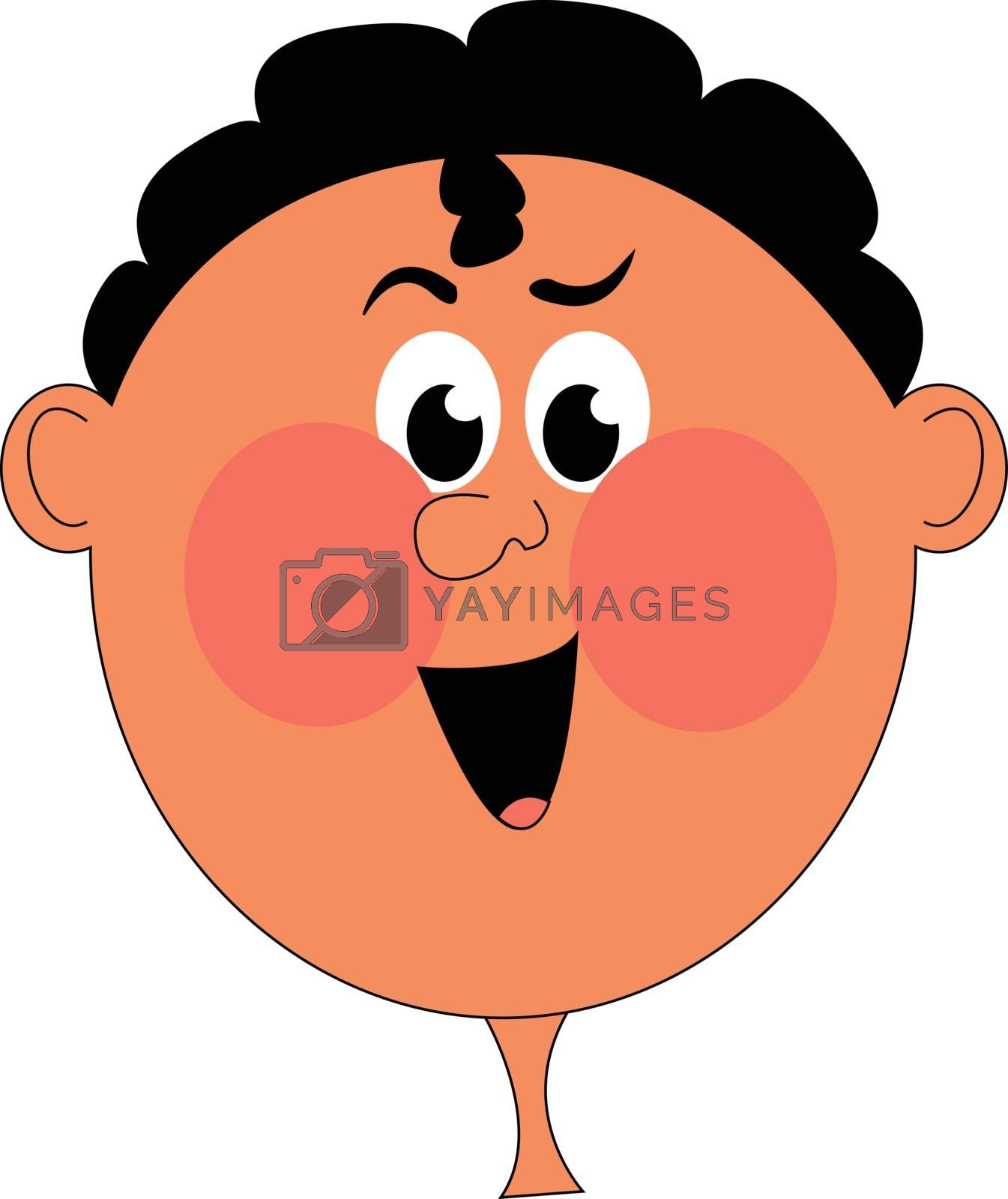 Royalty free image of Clipart of a boy with red cheeks vector or color illustration by Morphart