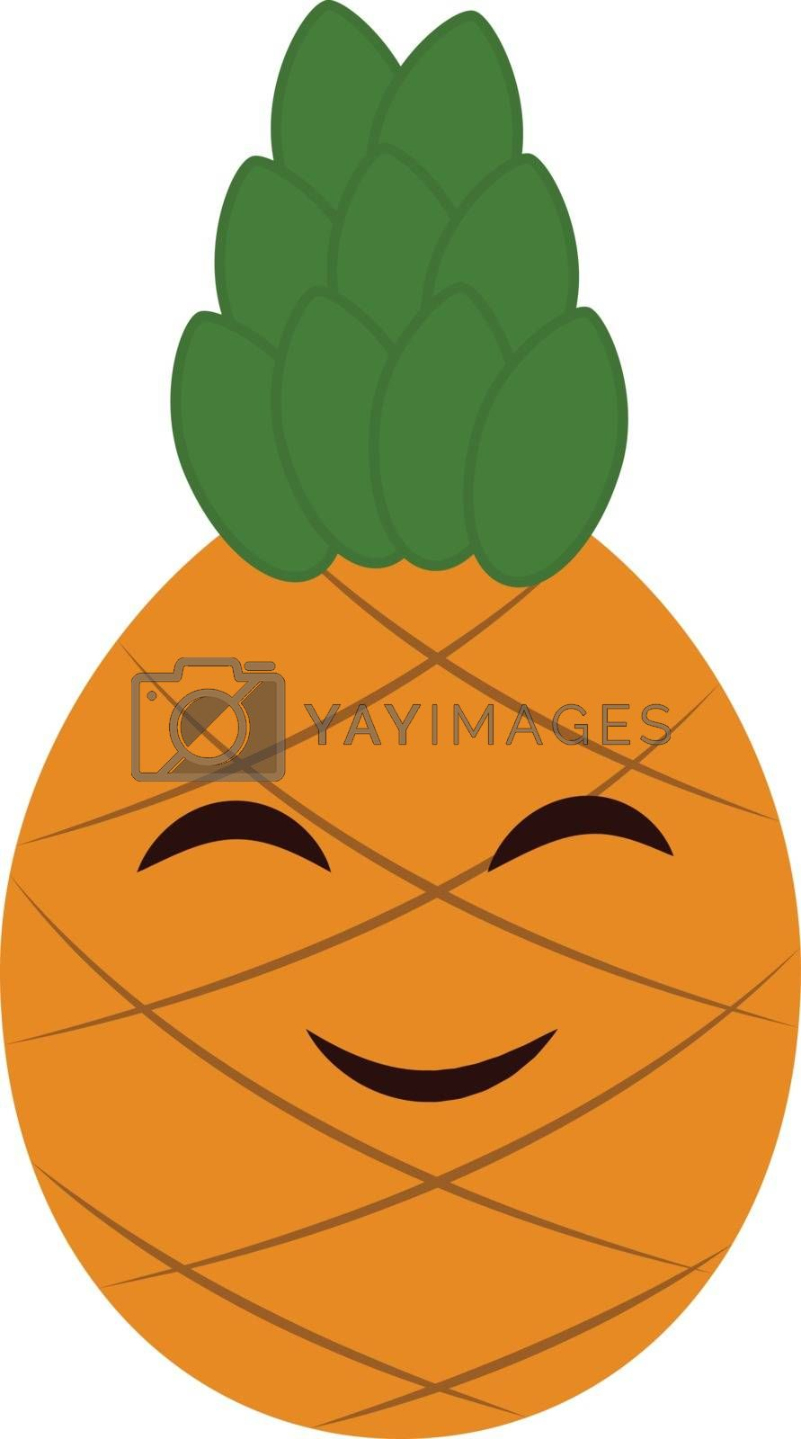 Royalty free image of Emoji cartoon smiling pineapple vector or color illustration by Morphart