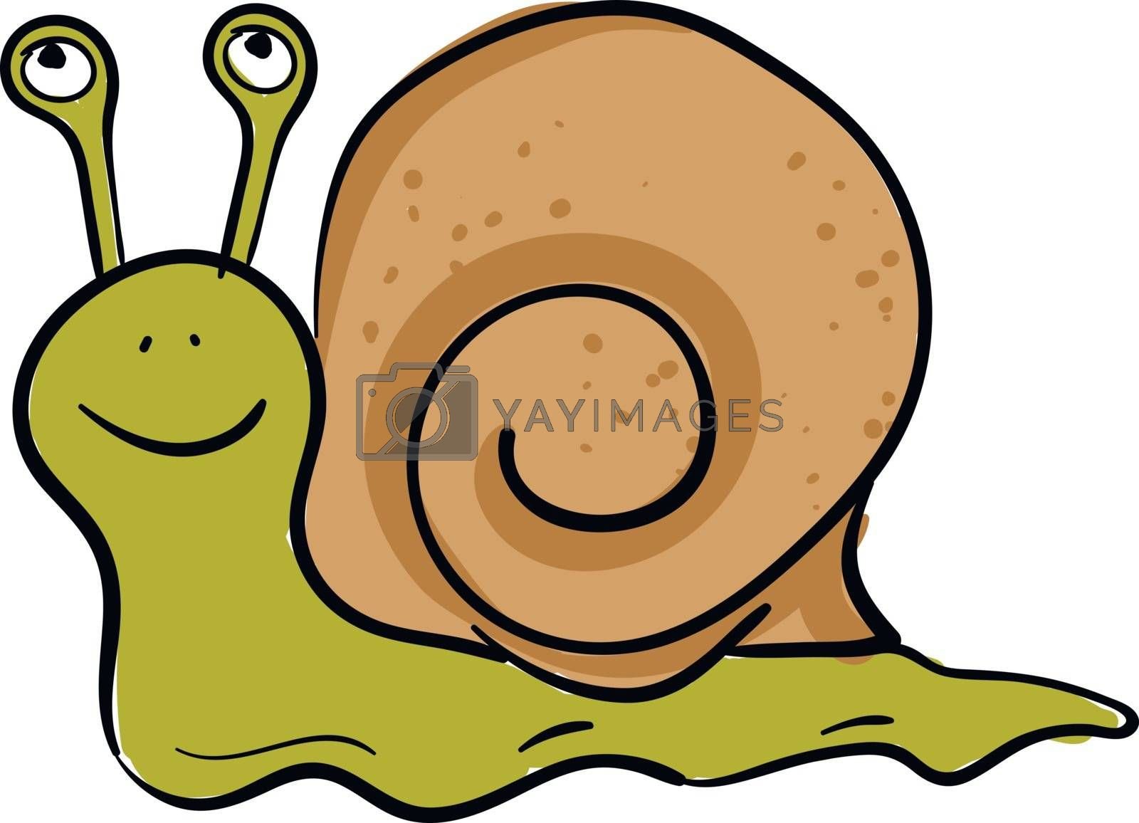 Royalty free image of Emoji of a happy green-colored snail vector or color illustratio by Morphart