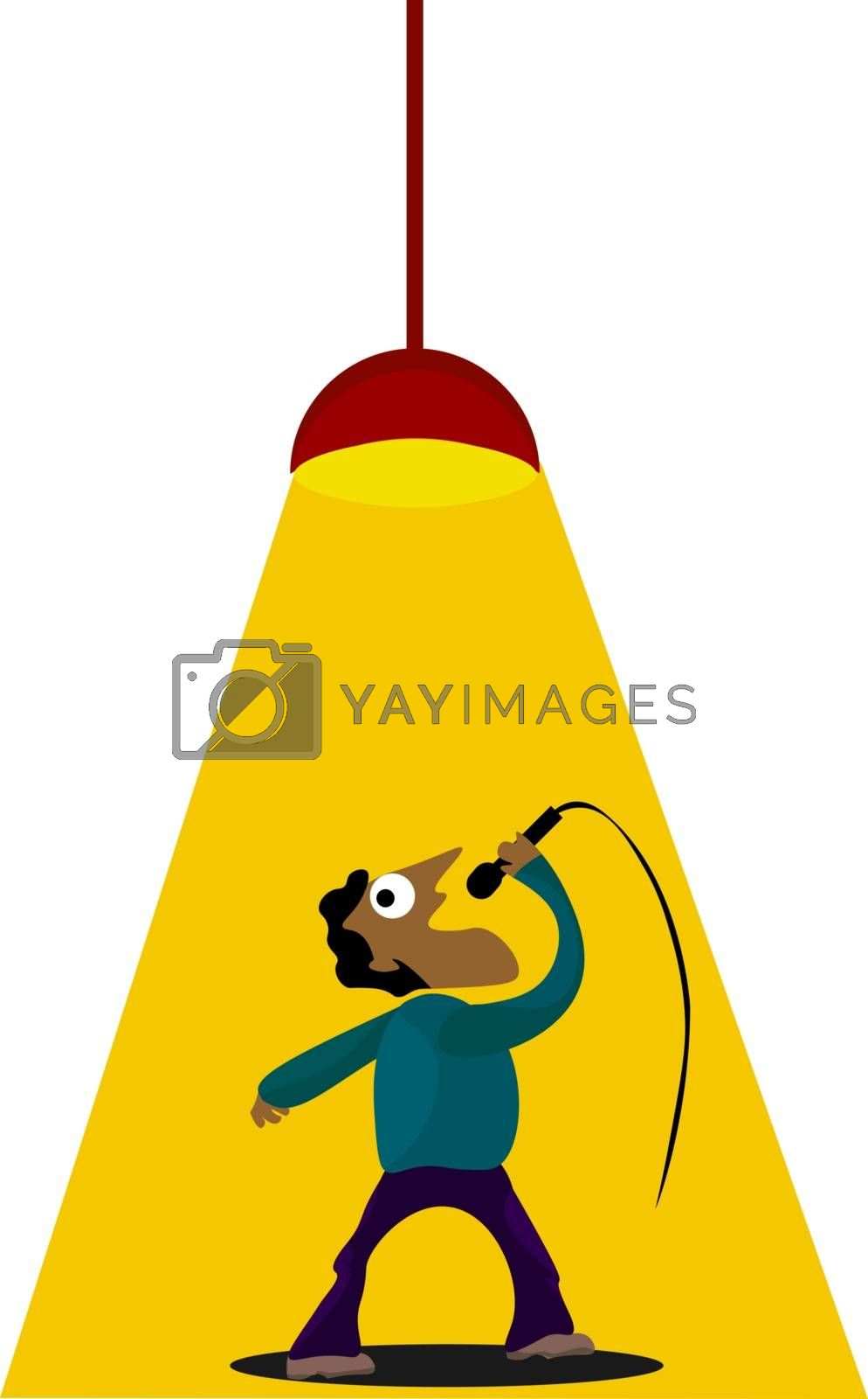 Royalty free image of Clipart of a singer stage performance  vector or color illustrat by Morphart